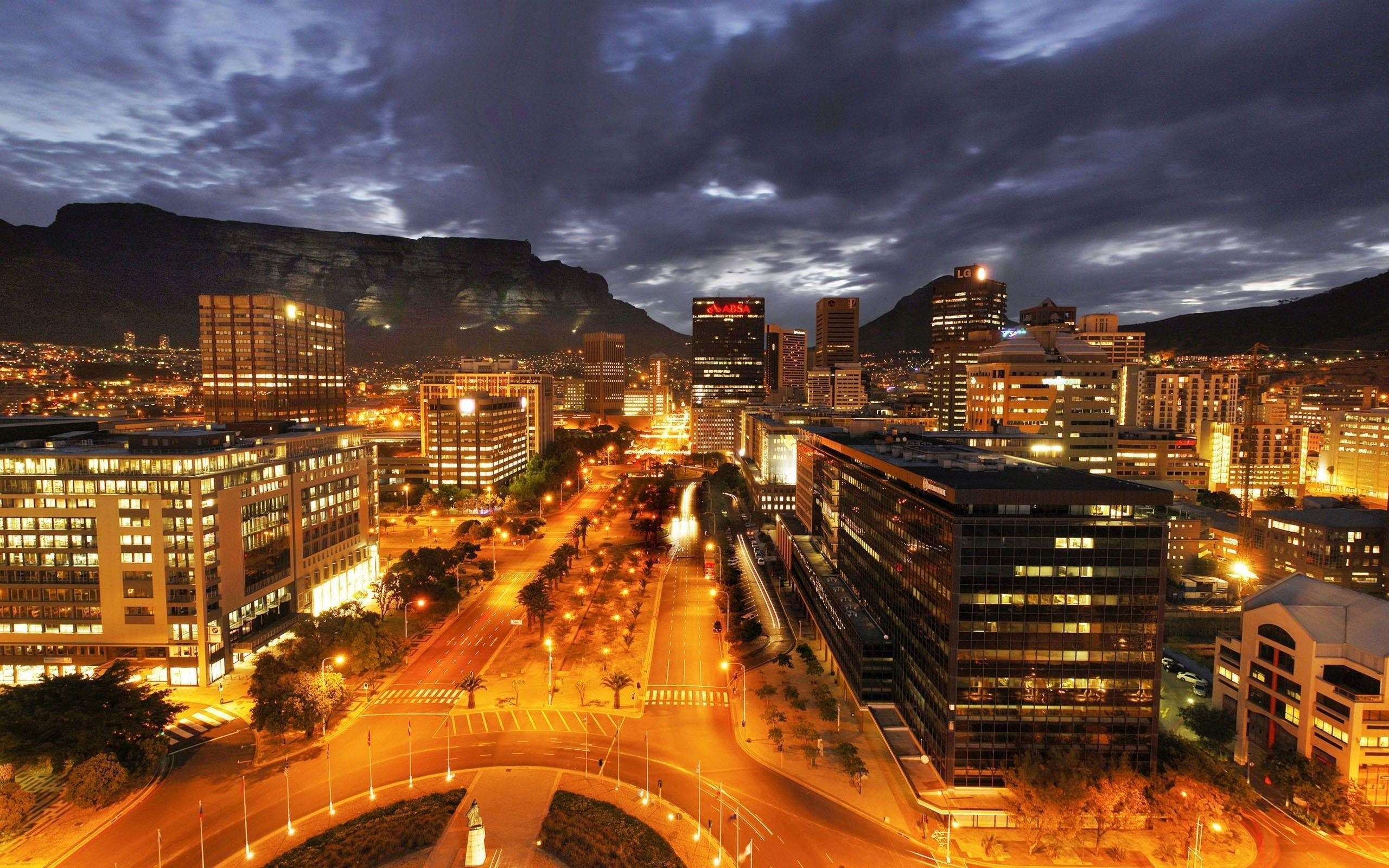 Cape Town 3D City Night Light Wallpaper - New HD Wallpapers