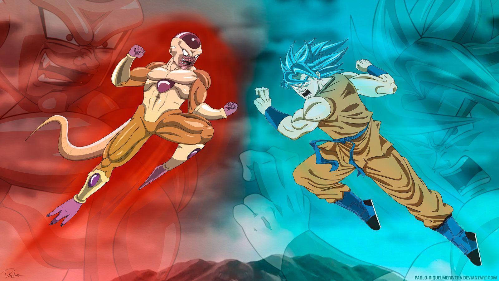 Golden Frieza Vs Goku Super Saiyan God By Pablo RiquelmeRivera On
