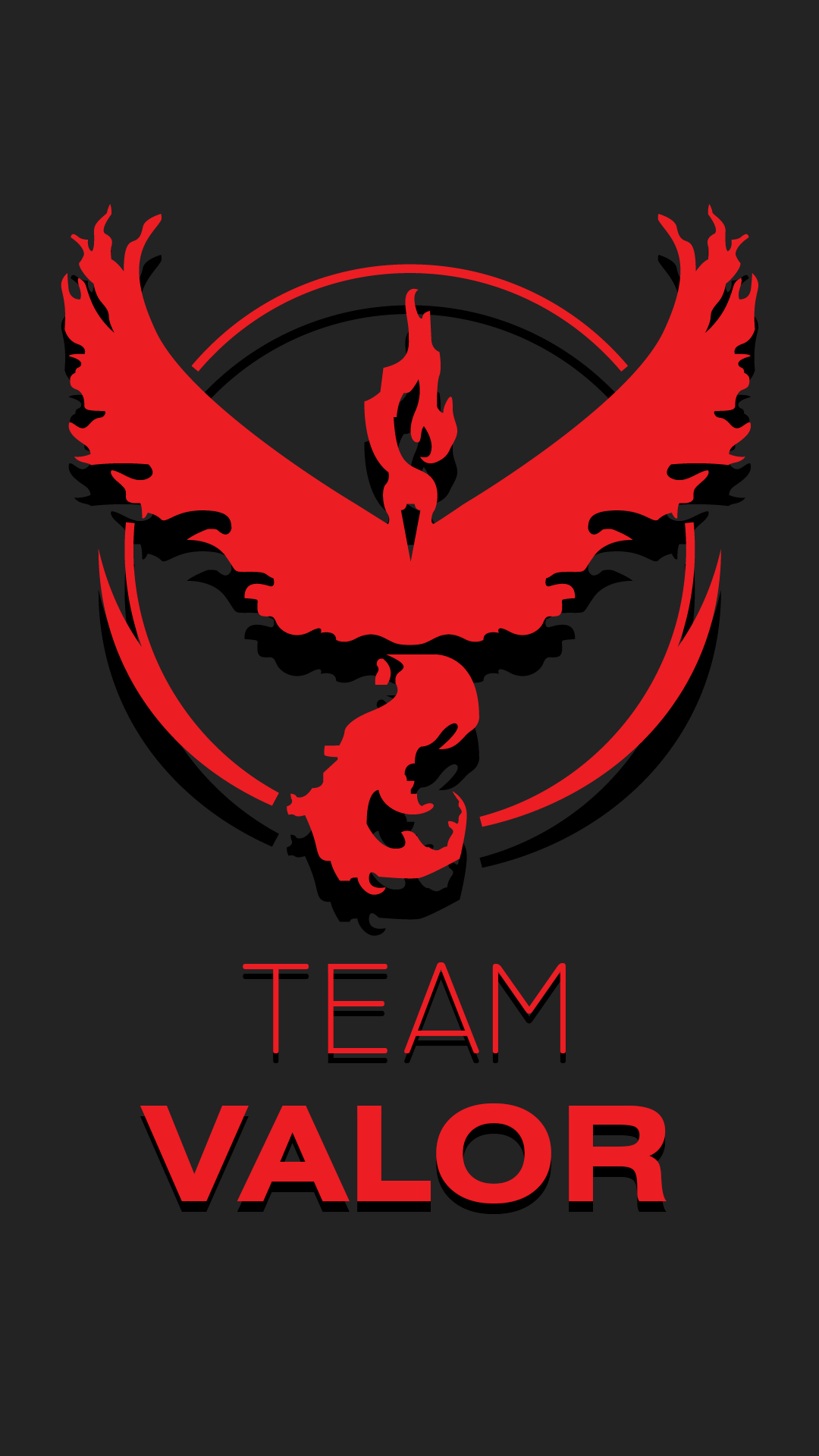 Made this Walpaper for Team Valor : pokemongo