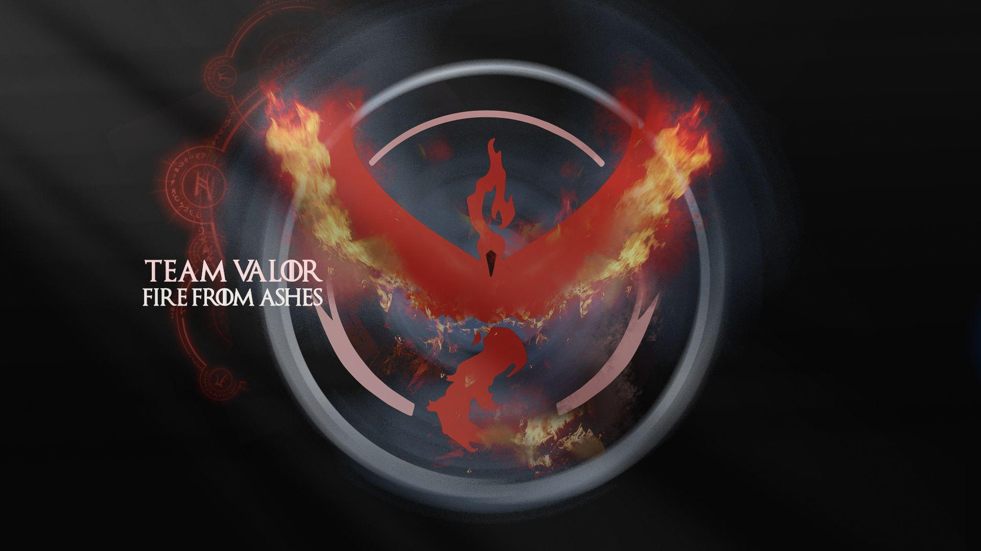 My GF made a Game of Thrones style Team Valor Wallpaper after ...
