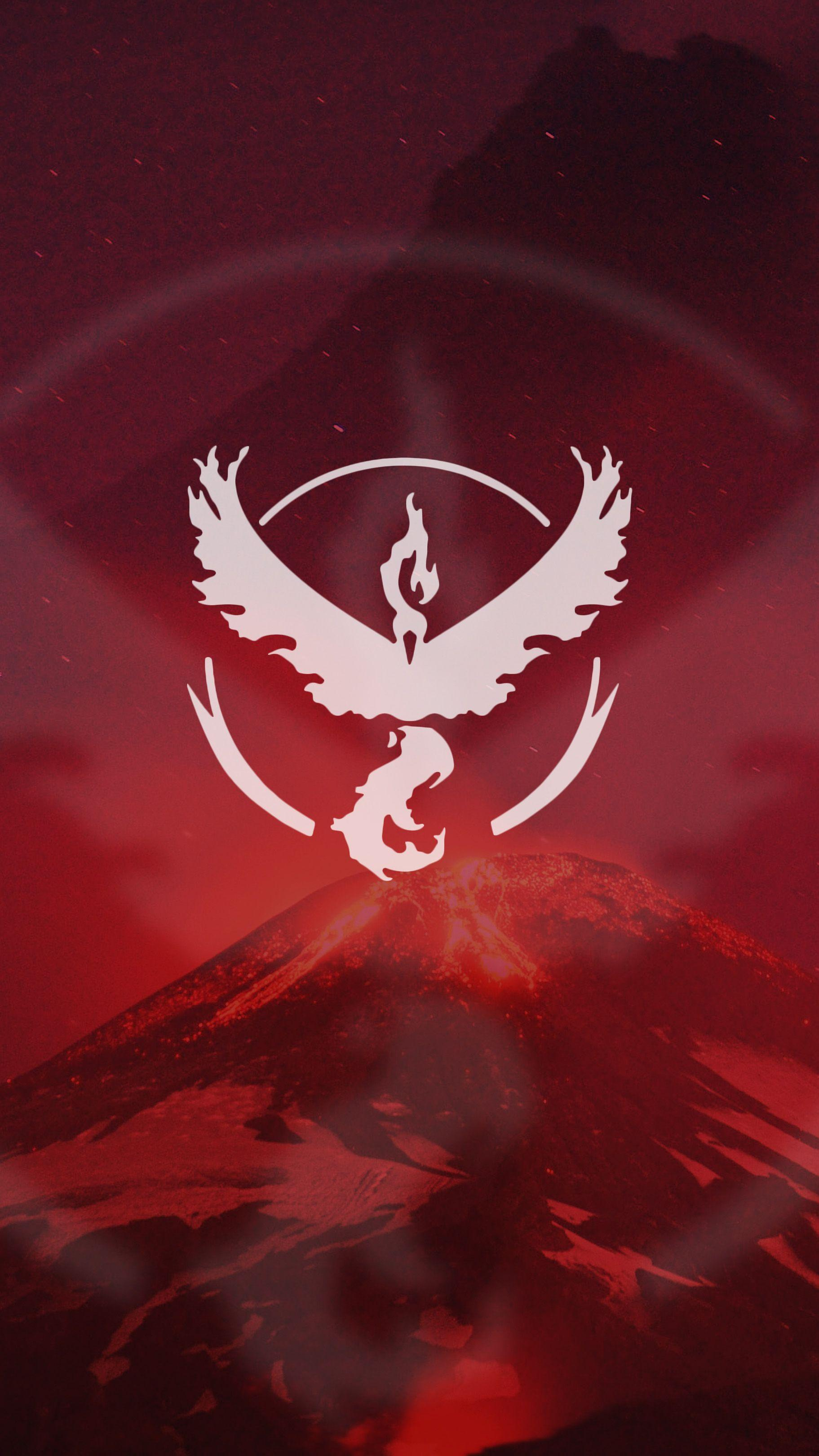Pokemon Go Team Valor Red Wallpaper | DarGadgetZ