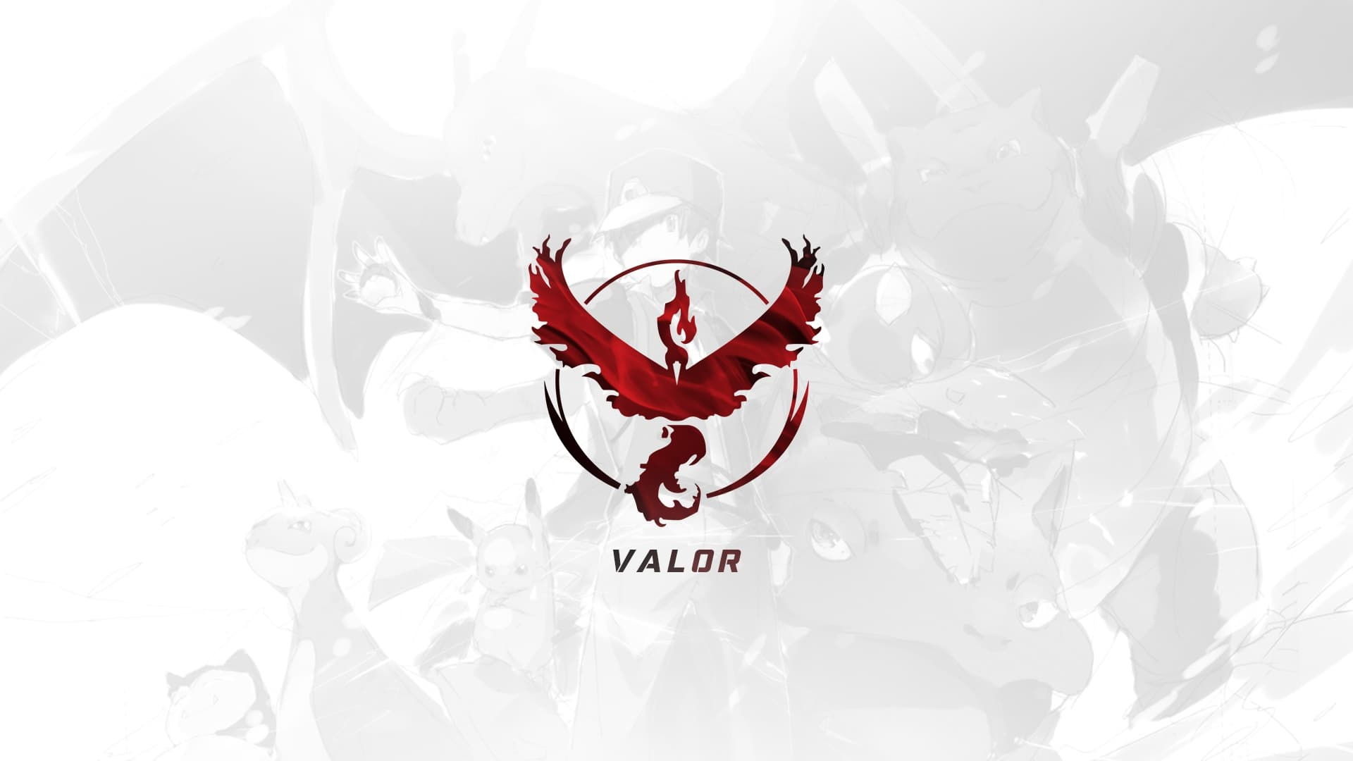 Red Team Valor Pokemon GO wallpapers HD 2016 High Resolution