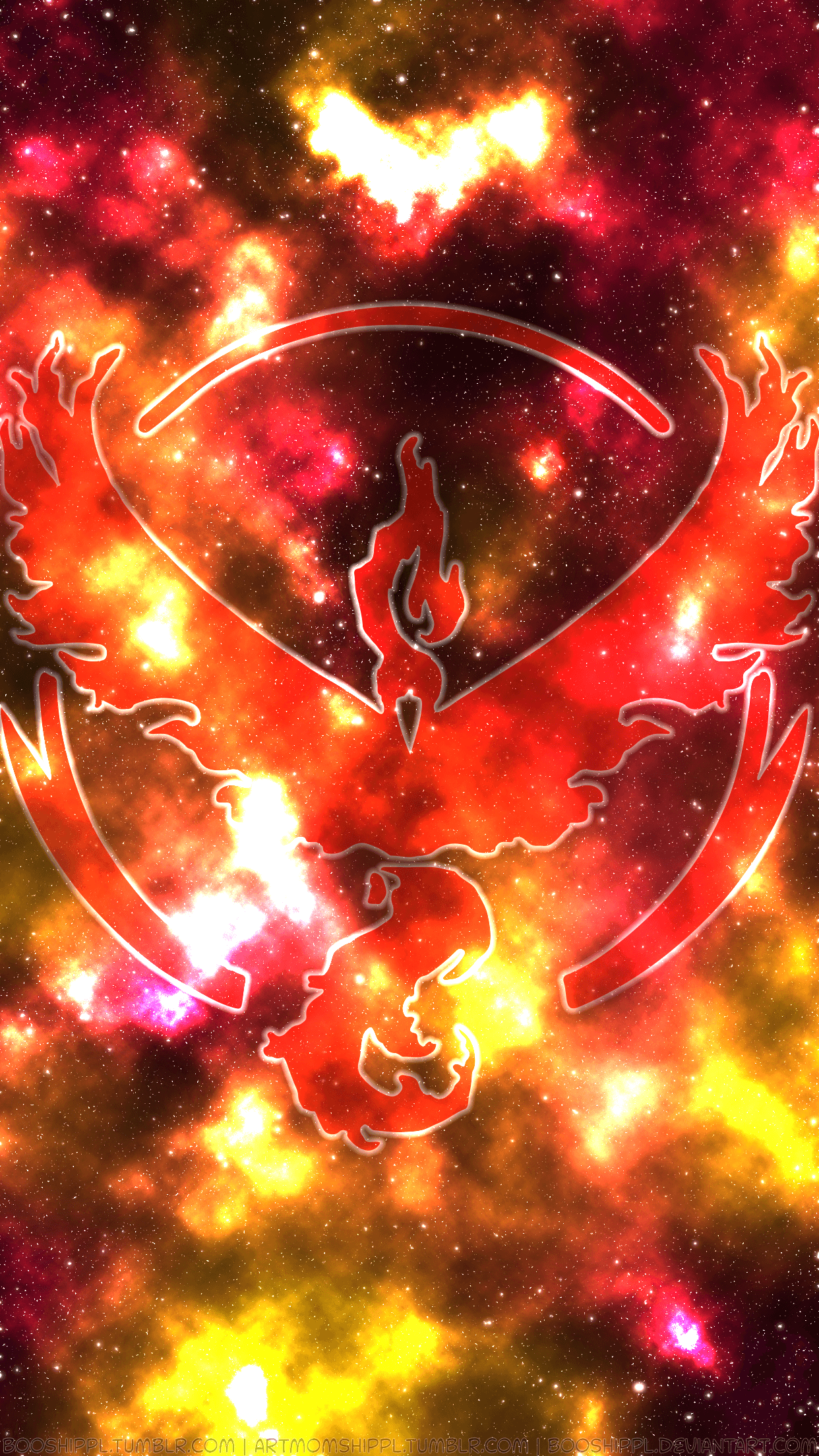 Pokemon Go - Team VALOR Wallpaper by Enttei on DeviantArt