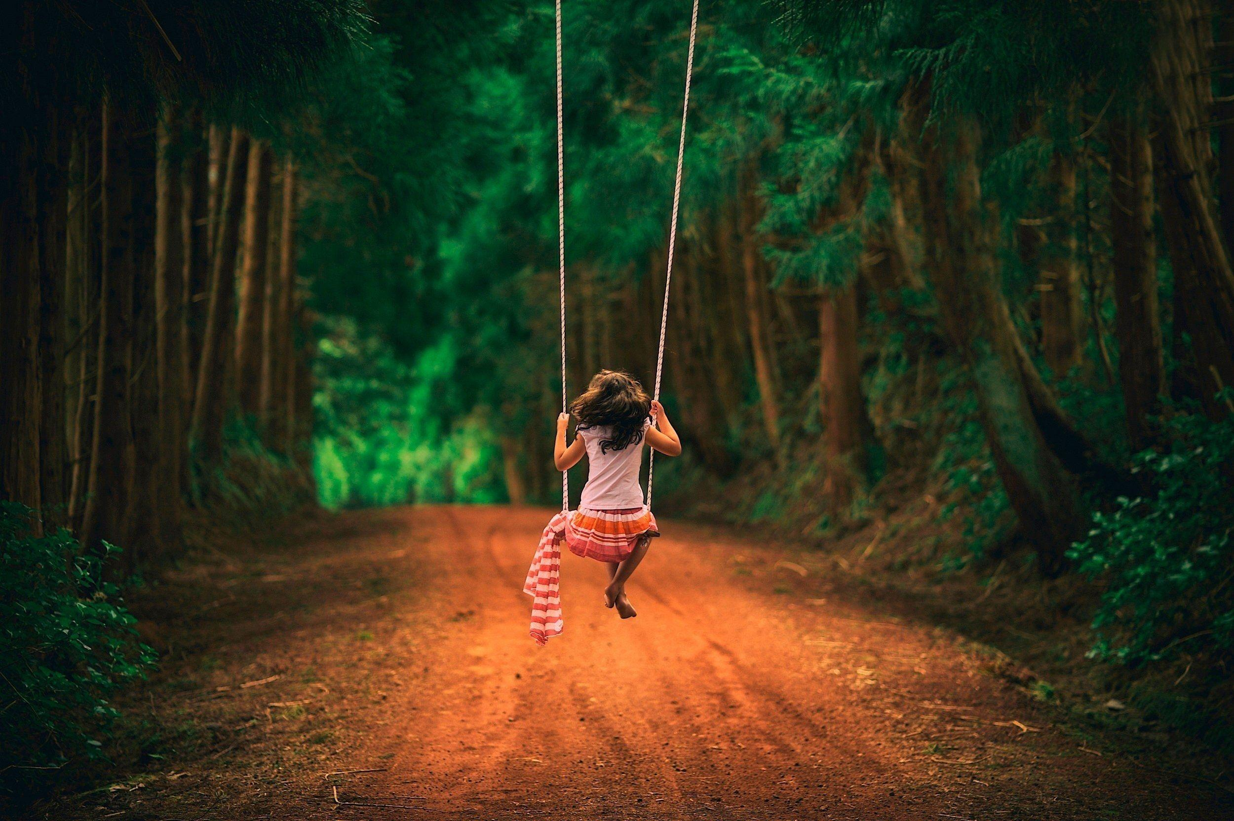 Girl on a swing Computer Wallpapers, Desktop Backgrounds ...
