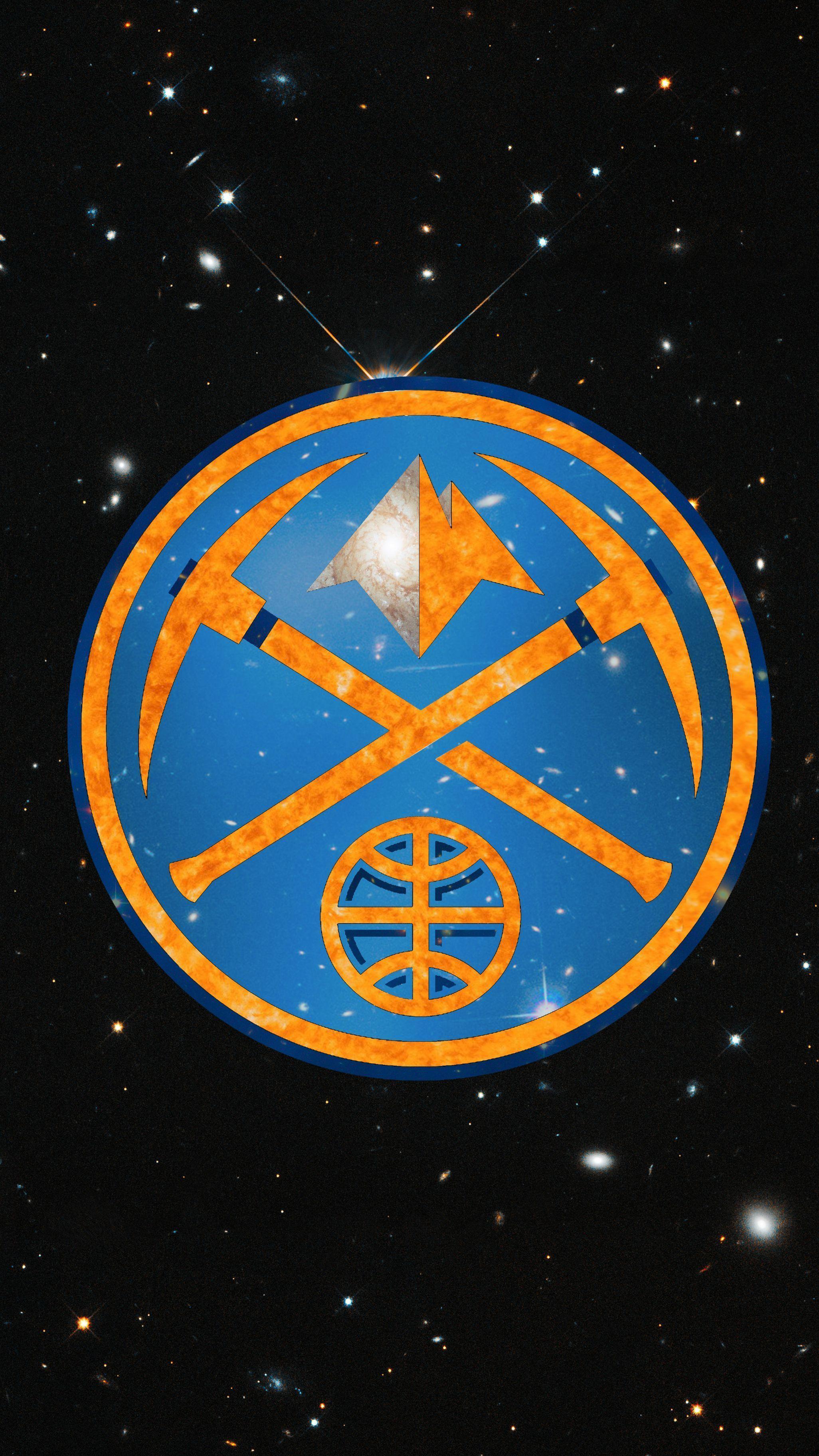 Denver Nuggets logo I made using Hubble space images. : denvernuggets