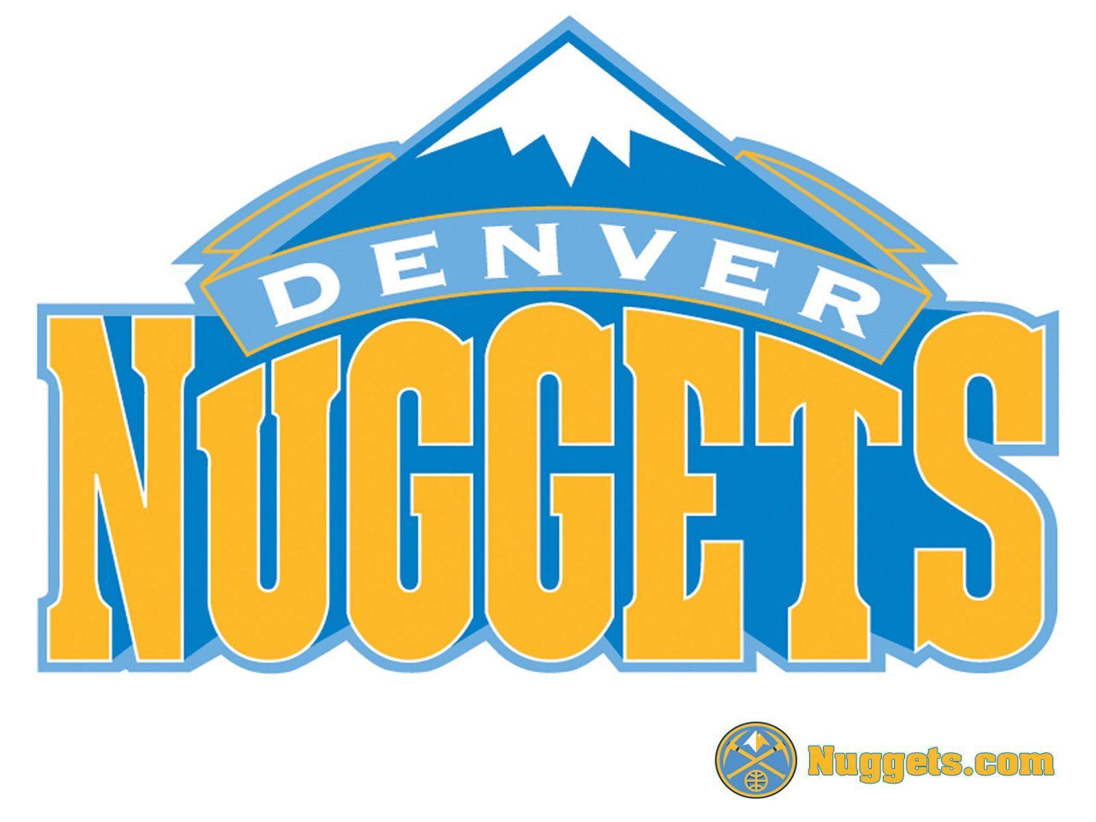 Denver Nuggets White Logo Wallpaper | Basketball Wallpapers at ...