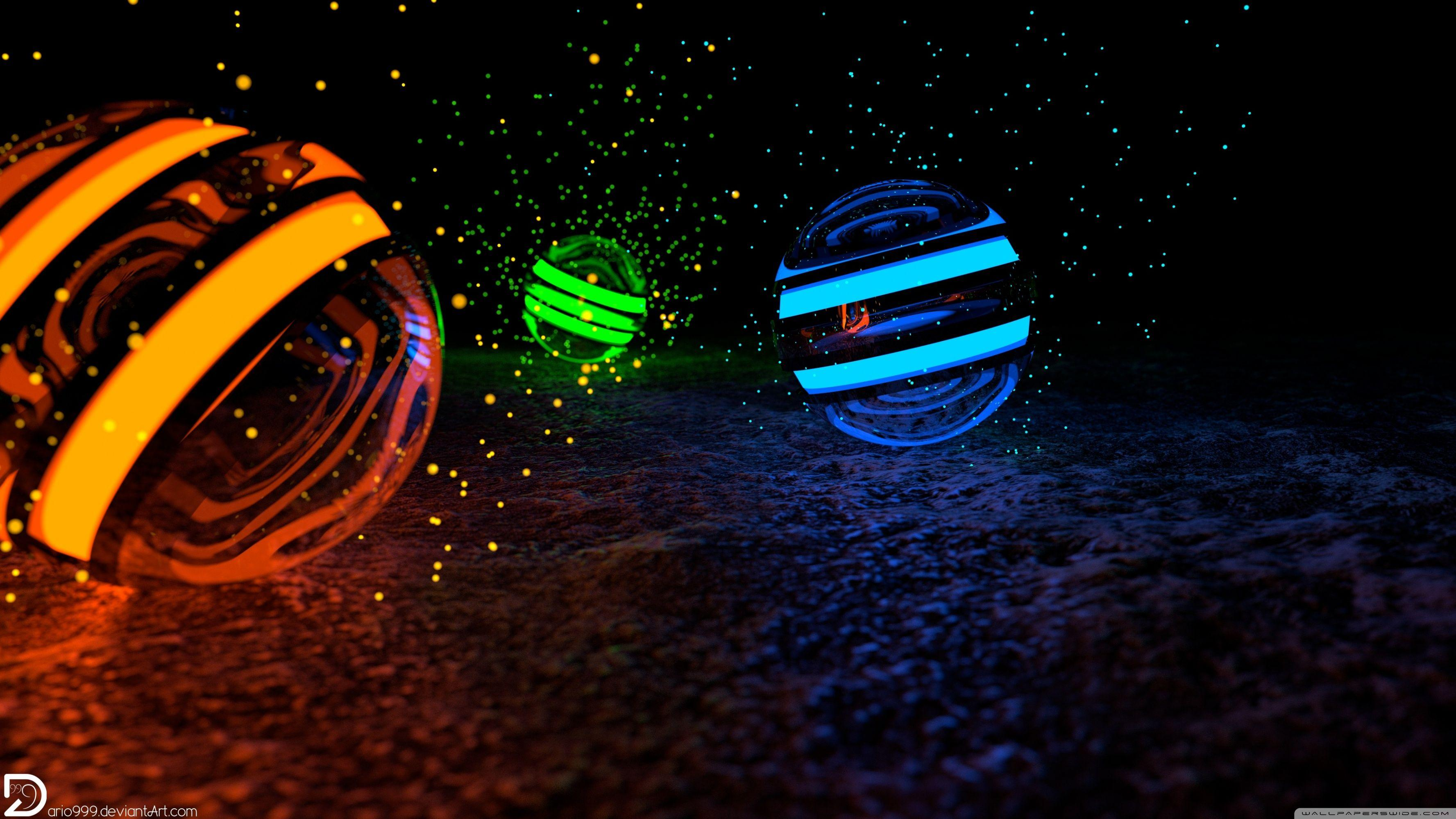 Spheres of Particles - 4K HD desktop wallpaper : Widescreen : High ...