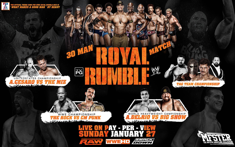 MFSTER Wrestling Wallpapers: WWE Royal Rumble 2013 Wallpaper !