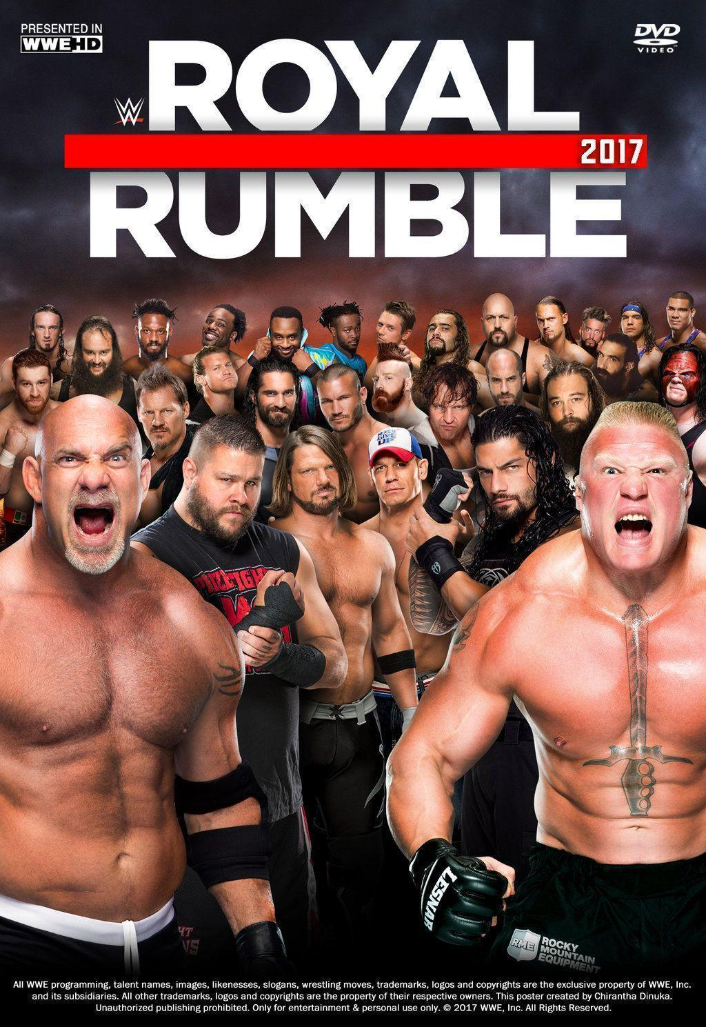 Royal Rumble 2017 Poster by Chirantha | WWE | Pinterest | Poster ...