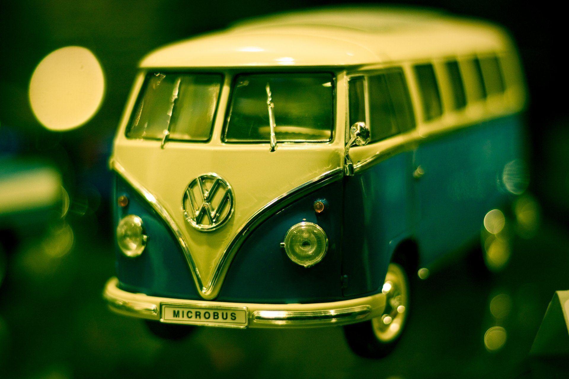 machine toys minivan volkswagen transporter photo close up ...