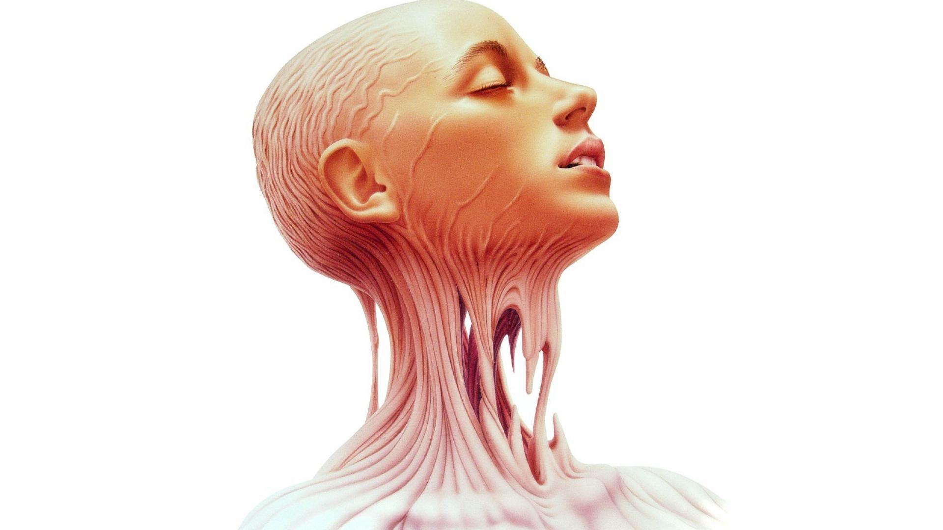 Anatomy human body face girl wallpaper   1920x1080   121903 ...