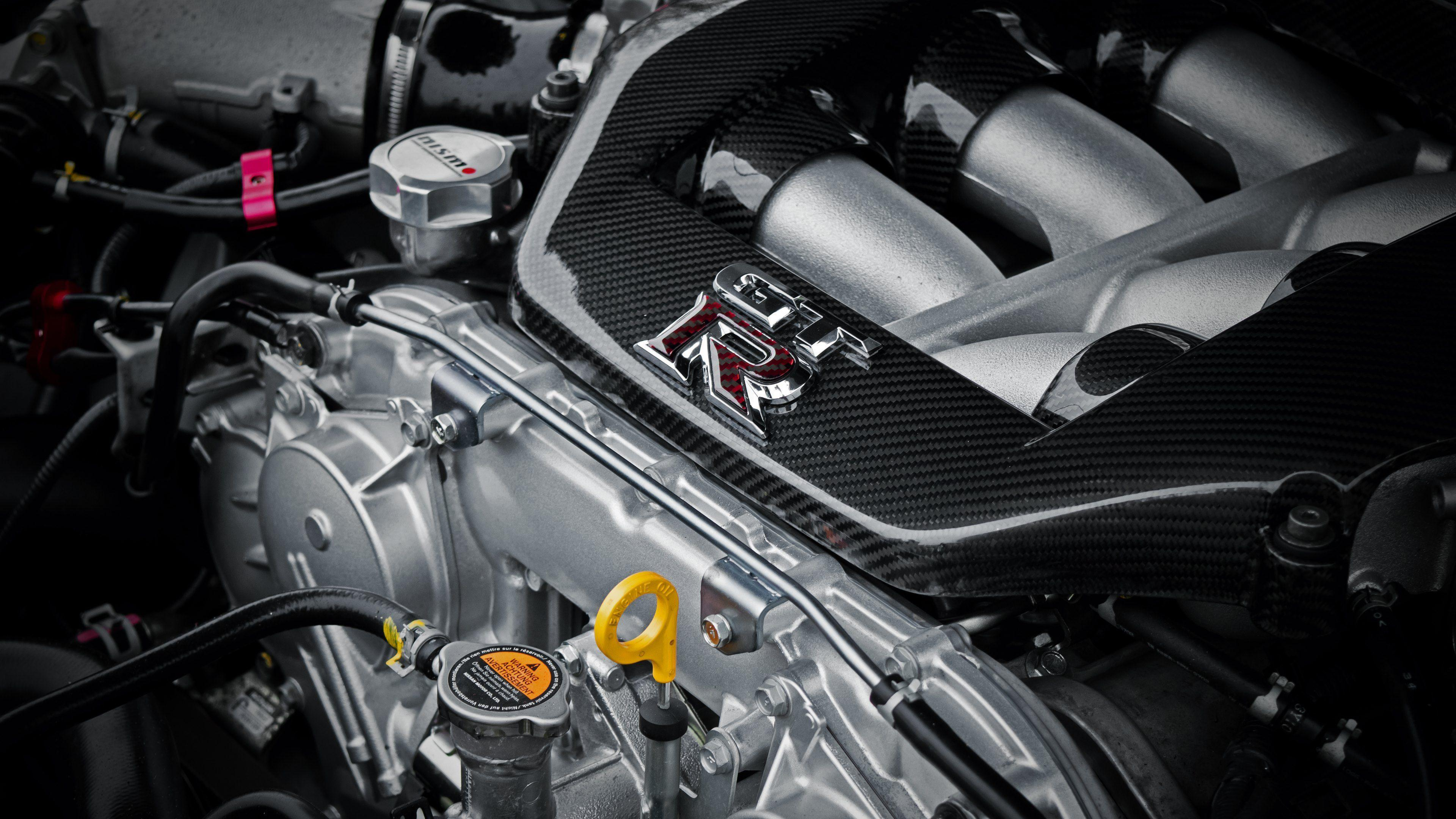 Nissan GTR Engine and Logo Wallpapers in HD, 4K and wide sizes