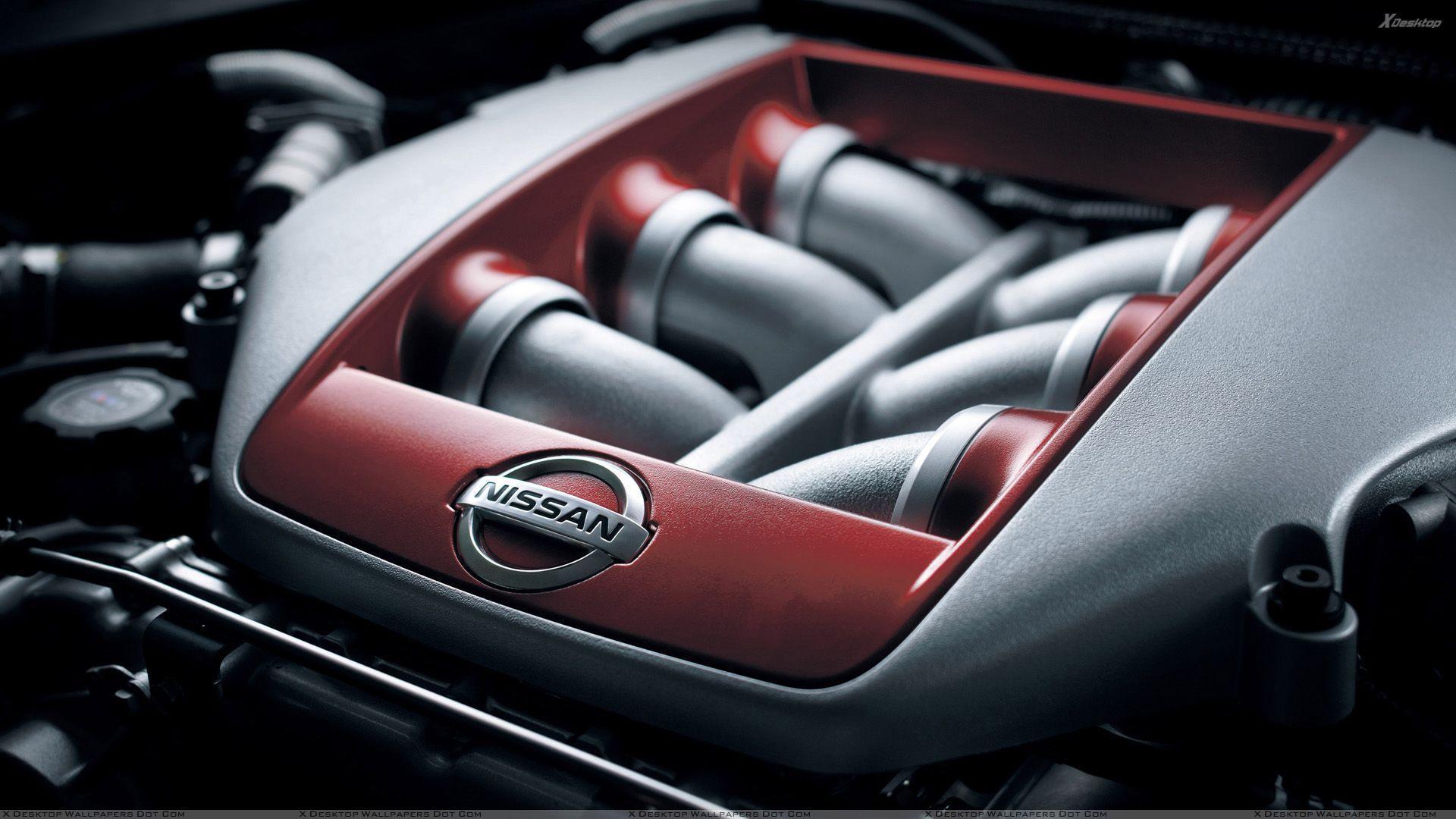 Nissan GTR Engine and Logo Wallpapers · 4K HD Desktop Backgrounds ...