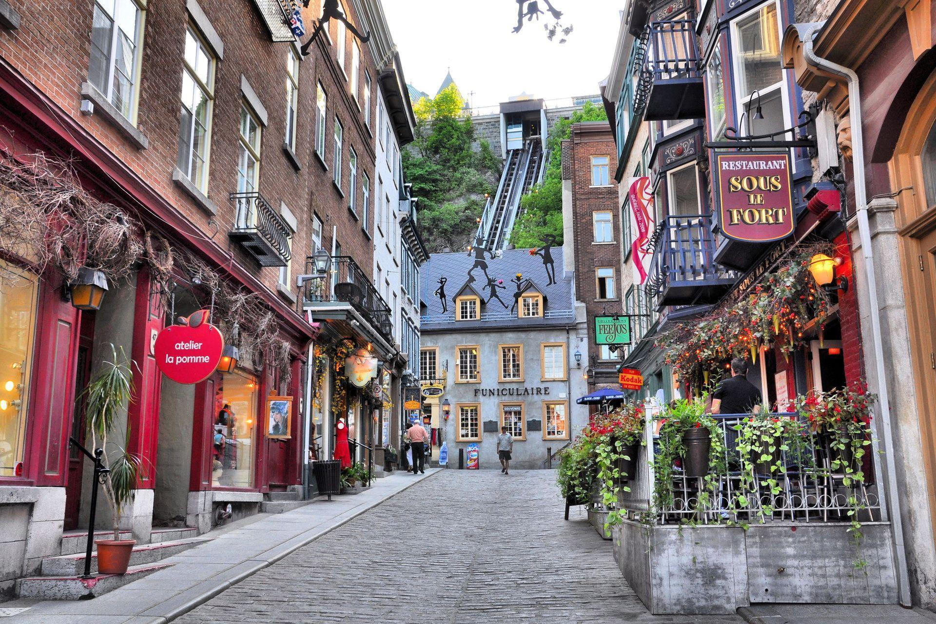 Rue Le petit Champlain Vieux-Quebec Computer Wallpapers, Desktop ...