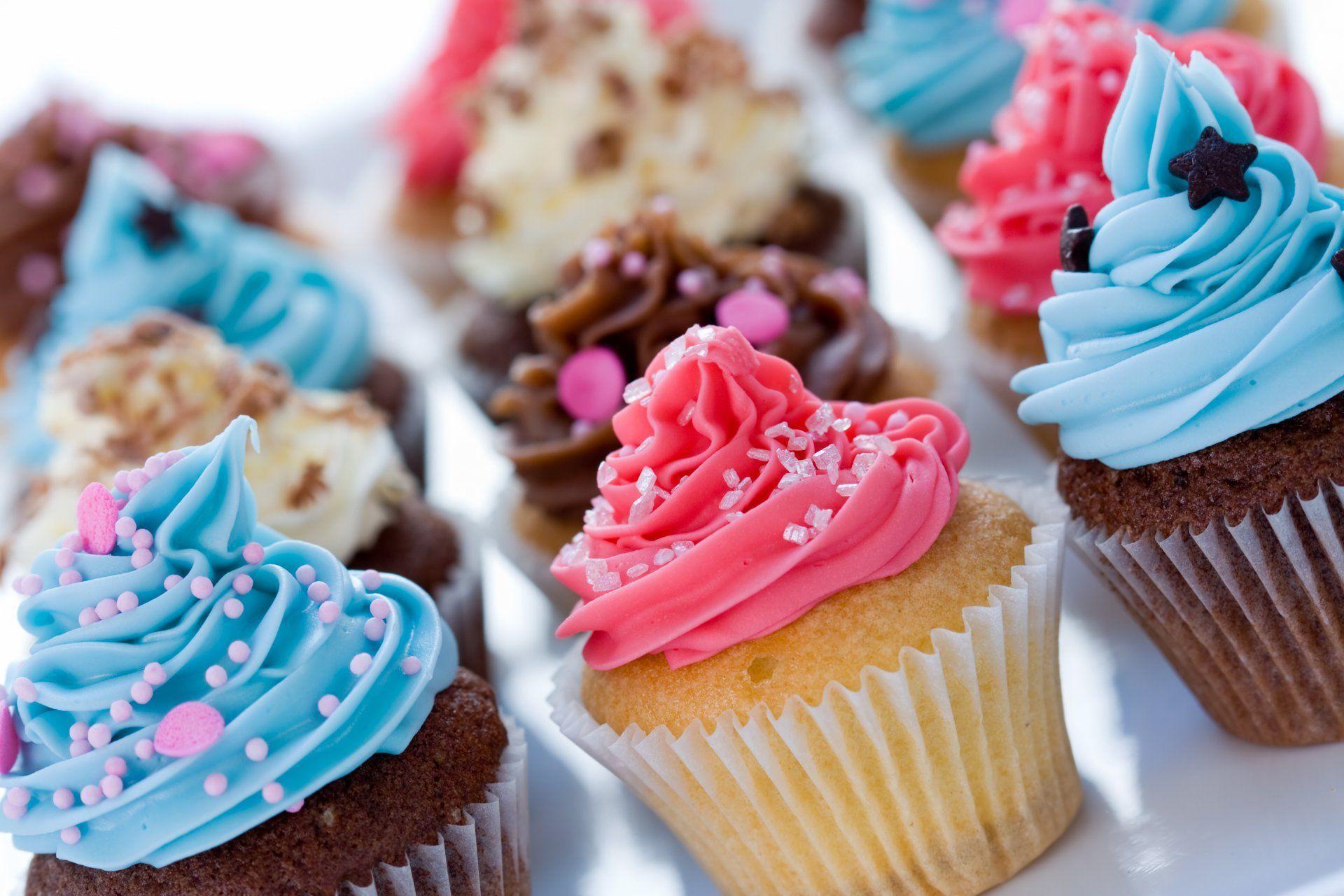 cupcakes cream chocolate decoration assorted baking sweet dessert ...