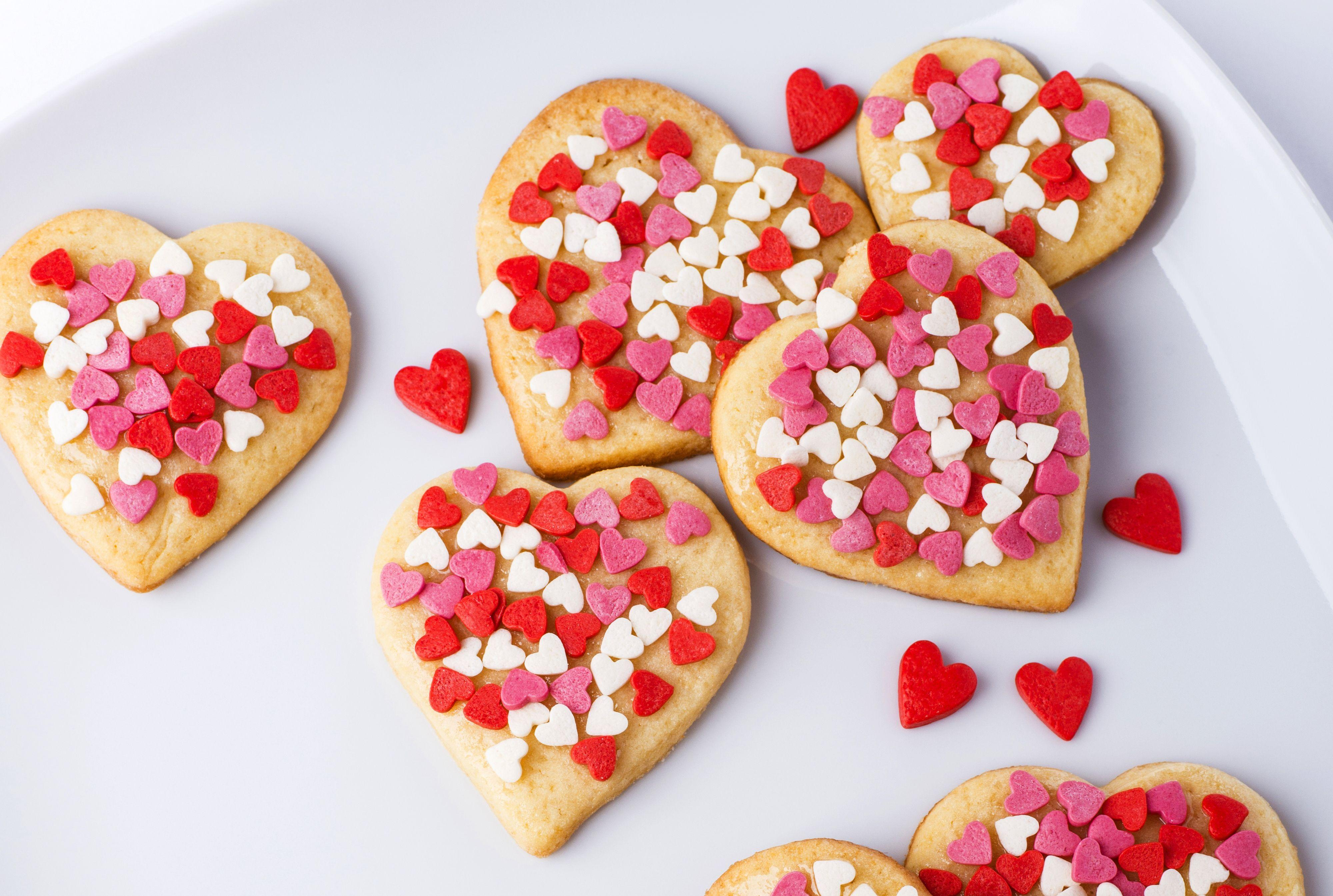 Photo Valentine's Day Heart Food Cookies Baking 4000x2690