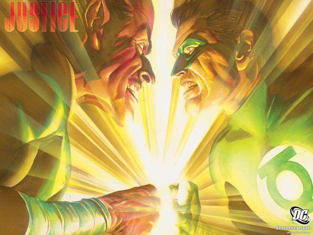My Free Wallpapers - Comics Wallpaper : Justice - Hal Jordan vs ...