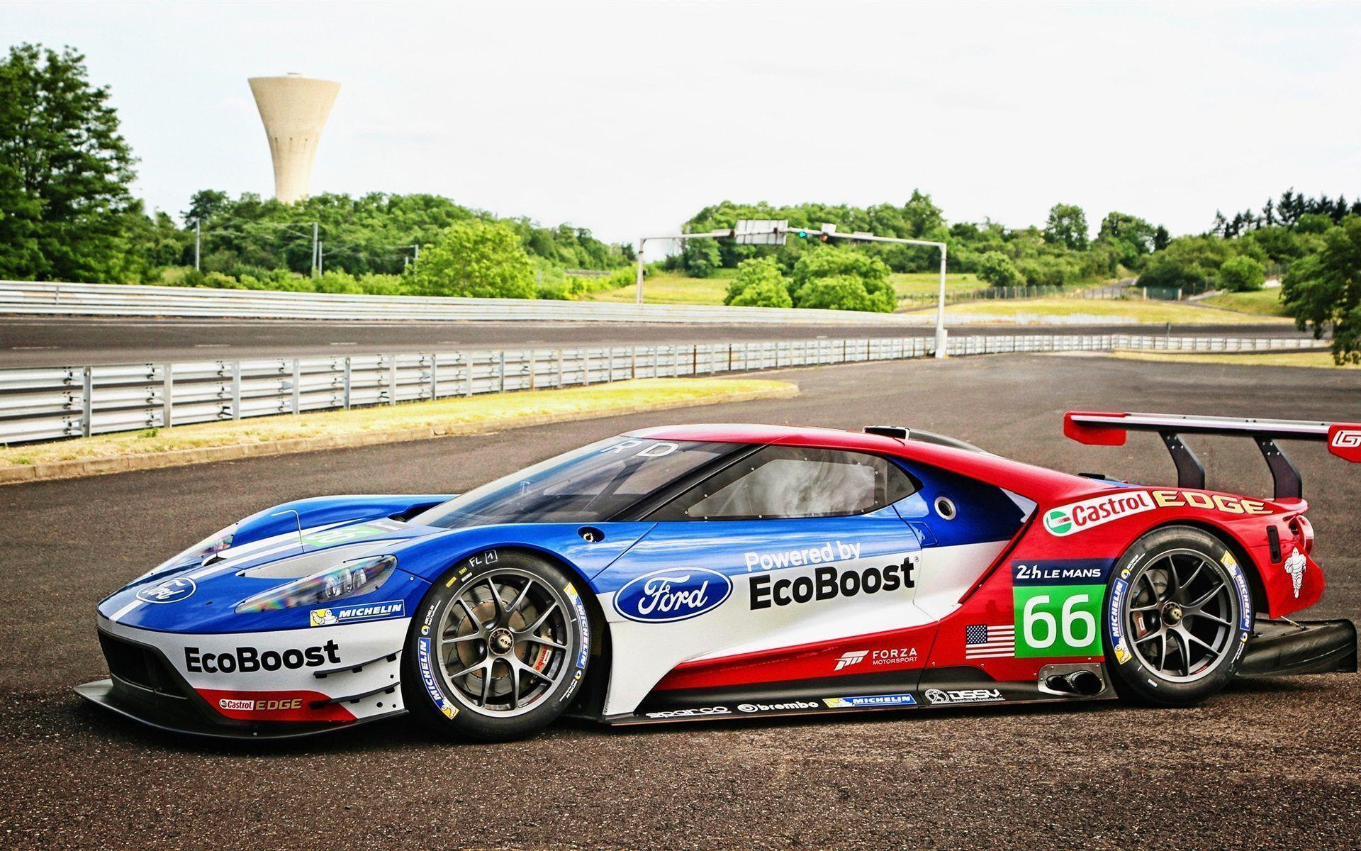 Ford GT Le Mans Race Car Wallpaper For Desktop & Mobile