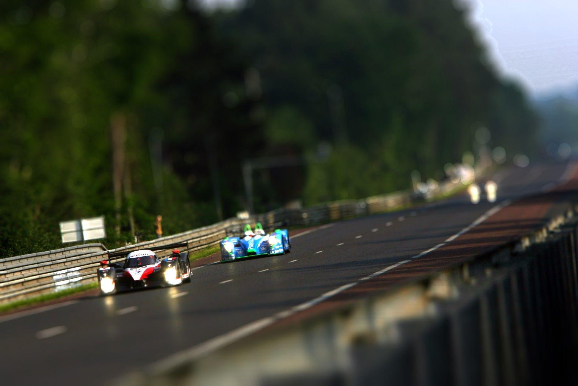 Le Mans, Peugeot, race, tilt-shift :: Wallpapers