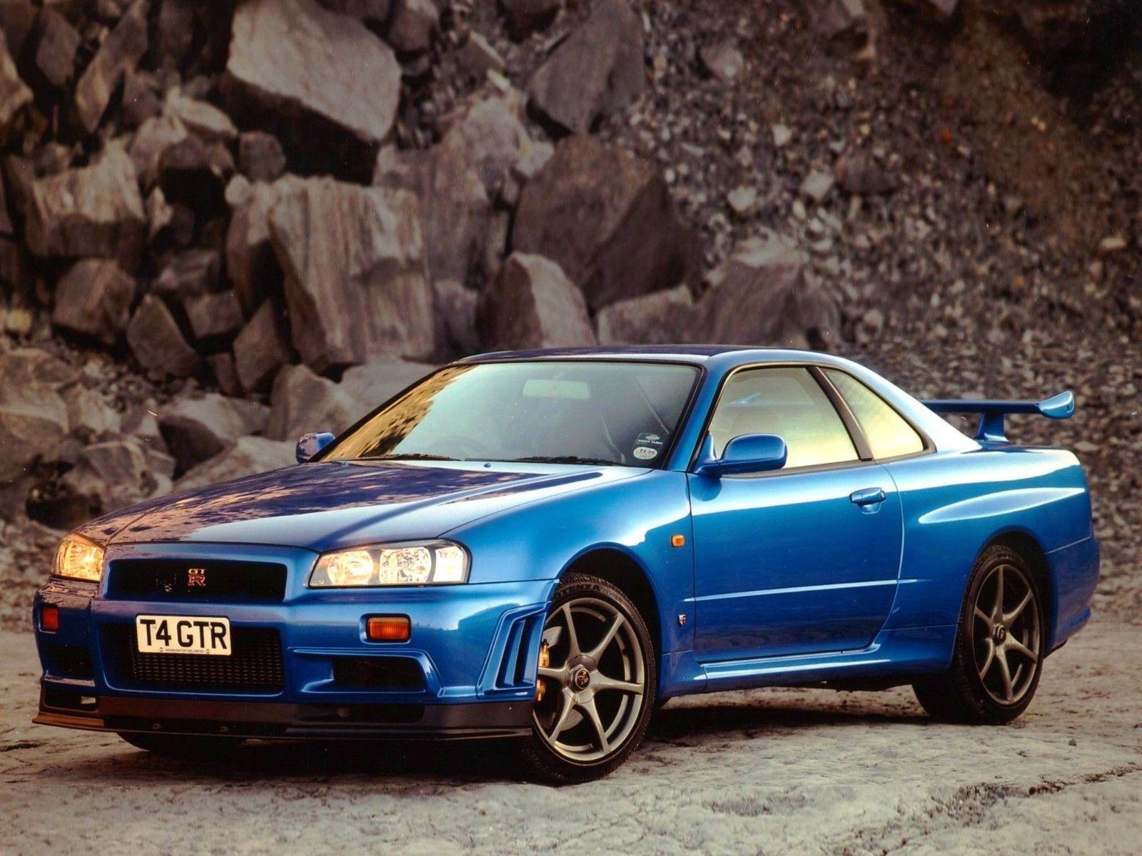 Cars vehicles blue cars Nissan Skyline GT-R Nissan Skyline R34 ...