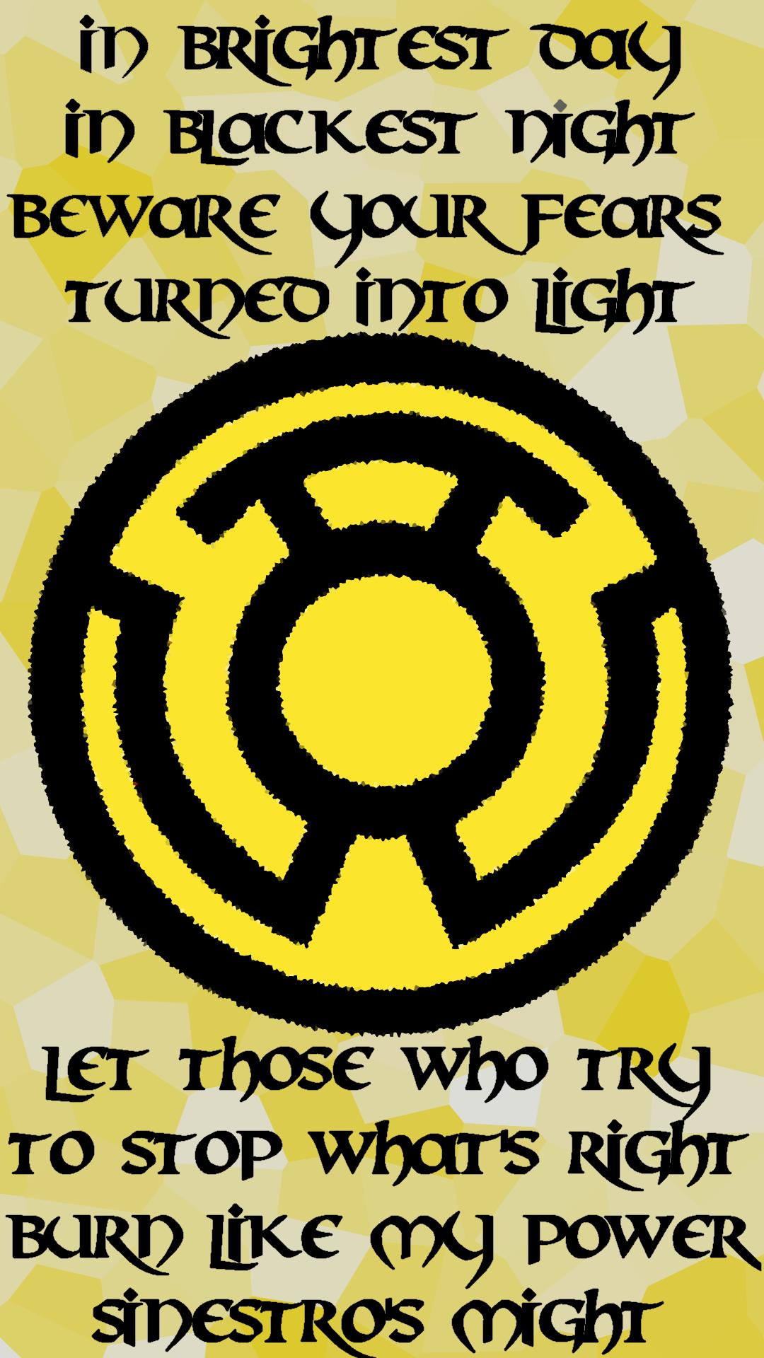 PHONE WALL] OC Sinestro Corps Wallpaper [1080x1920] - Imgur