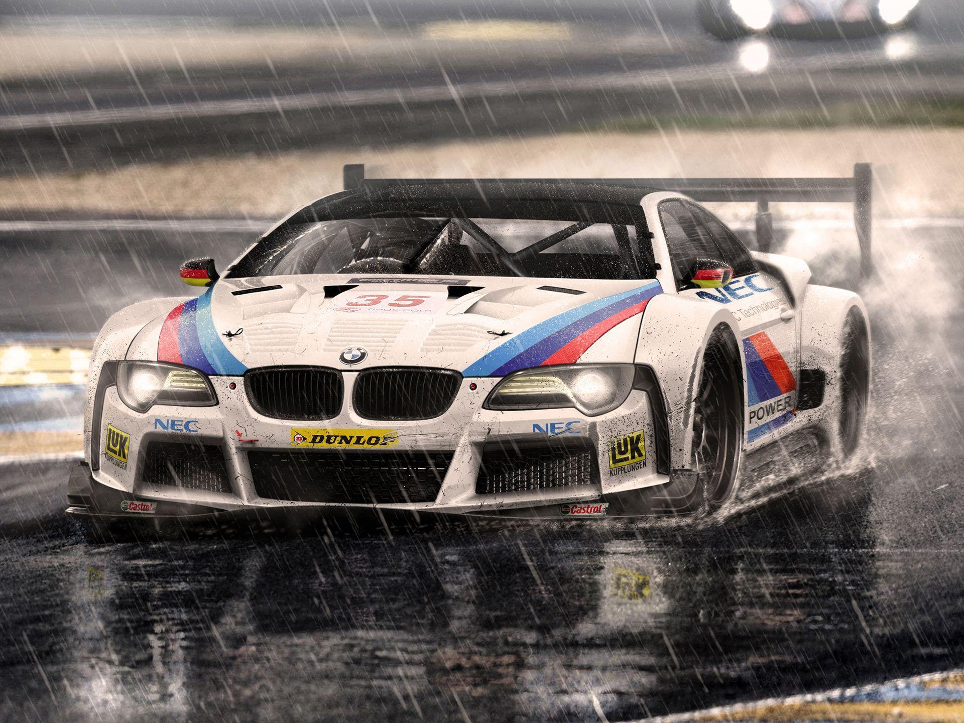 Full HD Wallpapers + Cars, BMW, Rain, White, Concepts, by Hugo ...