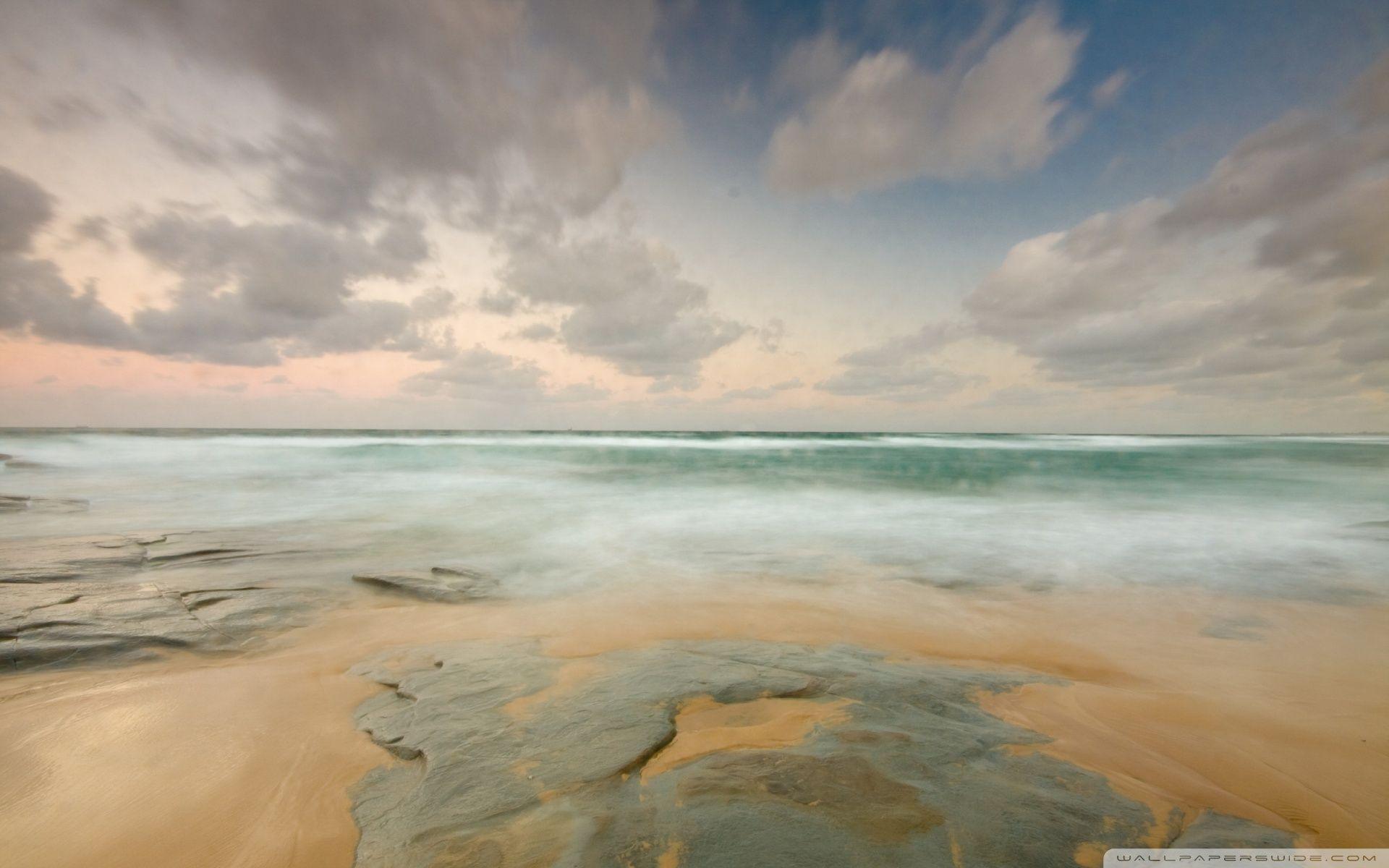 Empty Beach HD desktop wallpaper : Widescreen : High Definition ...
