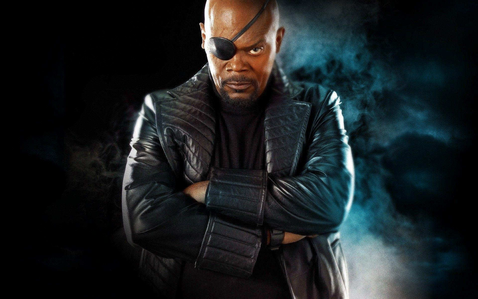 Samuel L. Jackson, Nick Fury, Eyepatches, Arms Crossed, Captain