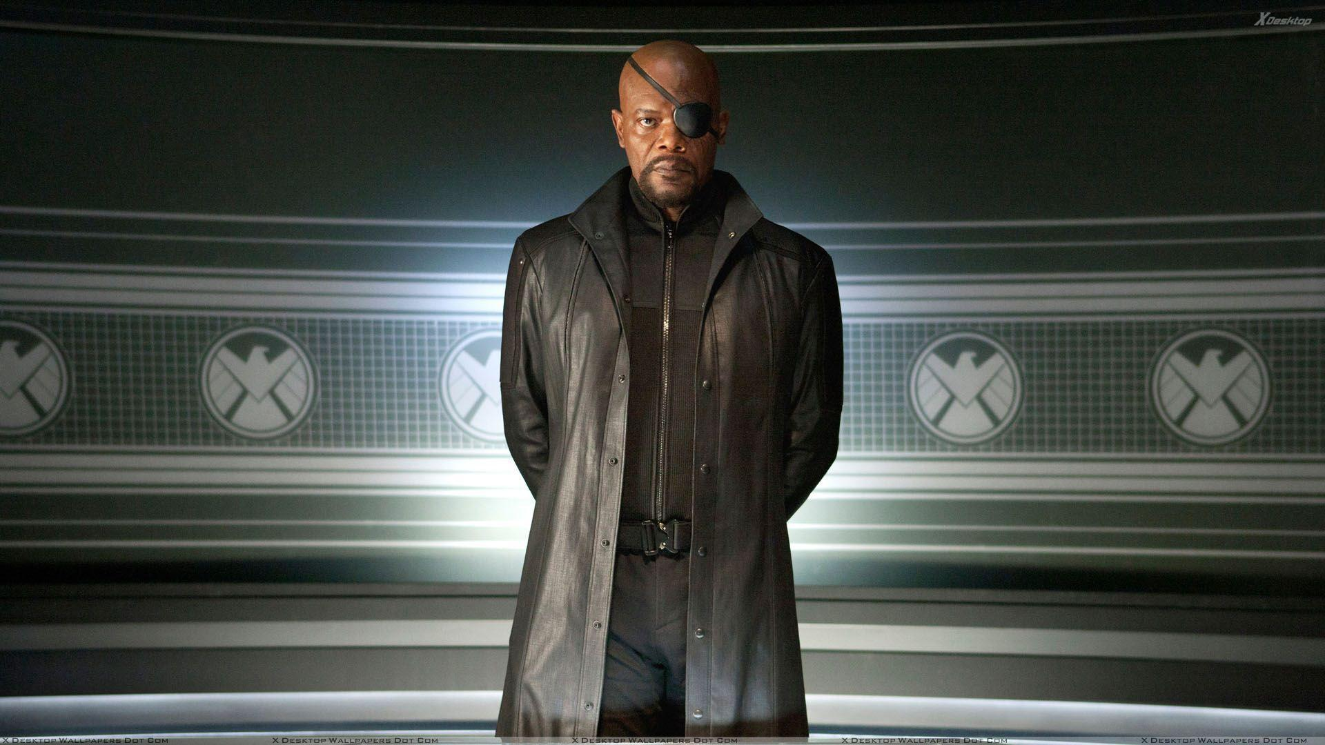 The Avengers – Samuel L. Jackson As Nick Fury In Black Dress Wallpapers