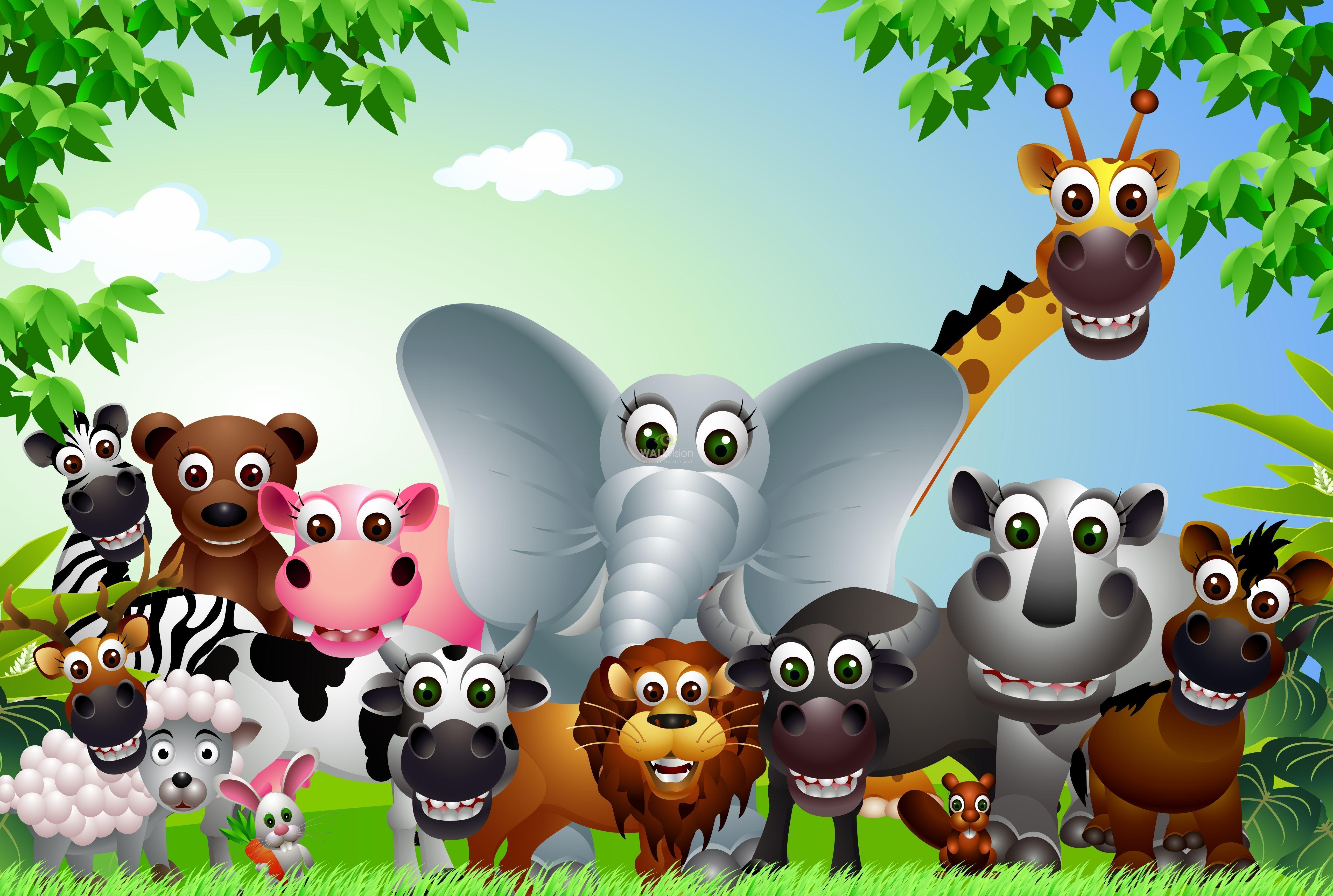 Cartoon animals wallpapers wallpaper cave - Moving animal wallpapers ...