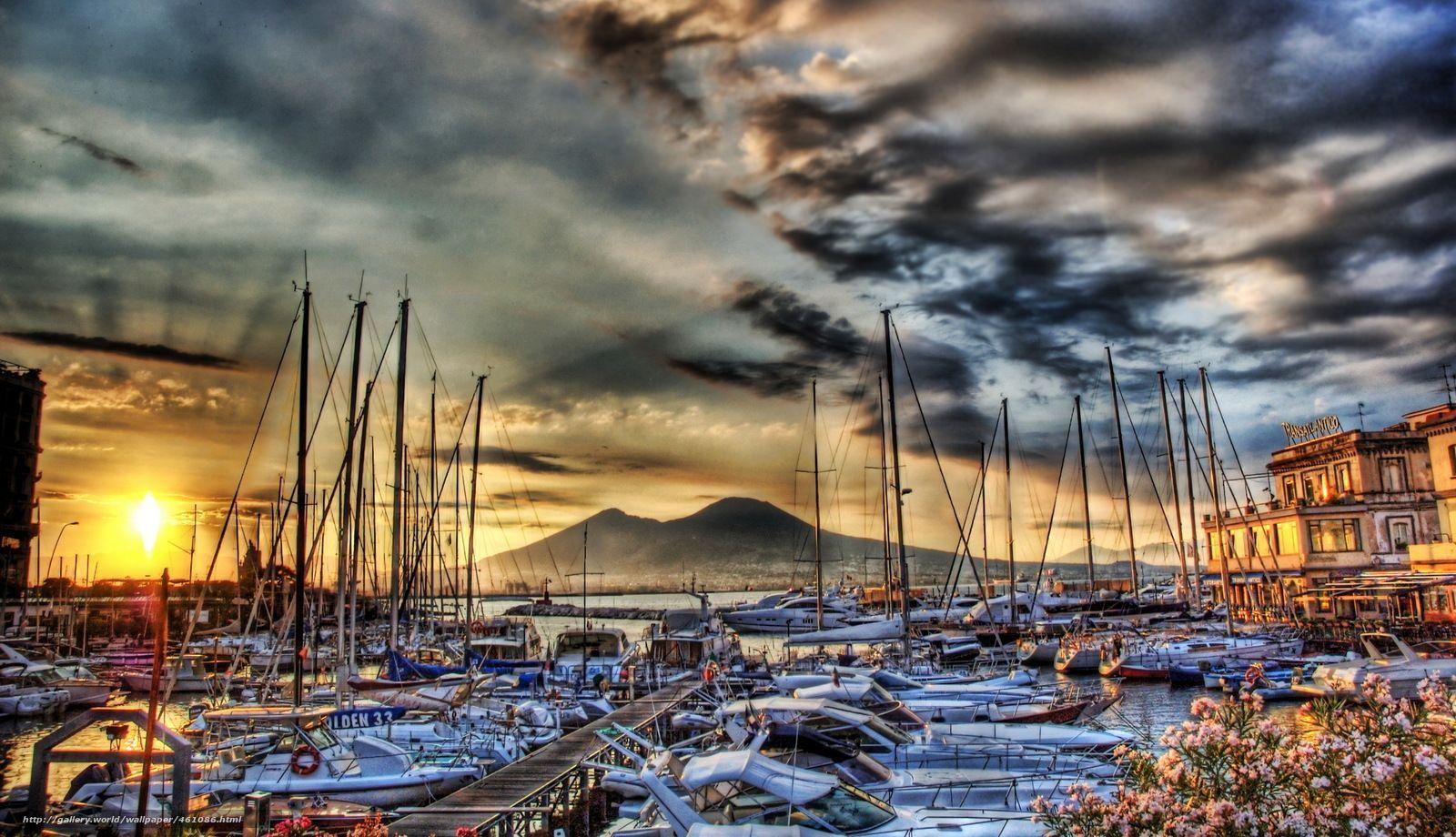Download wallpapers Ships, Italy, Naples free desktop wallpapers in