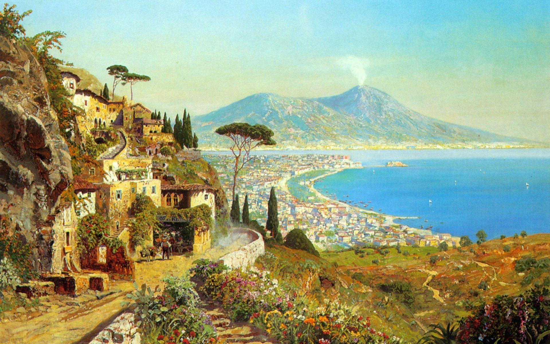 Wonderful Bay Of Naples wallpapers | Wonderful Bay Of Naples stock ...