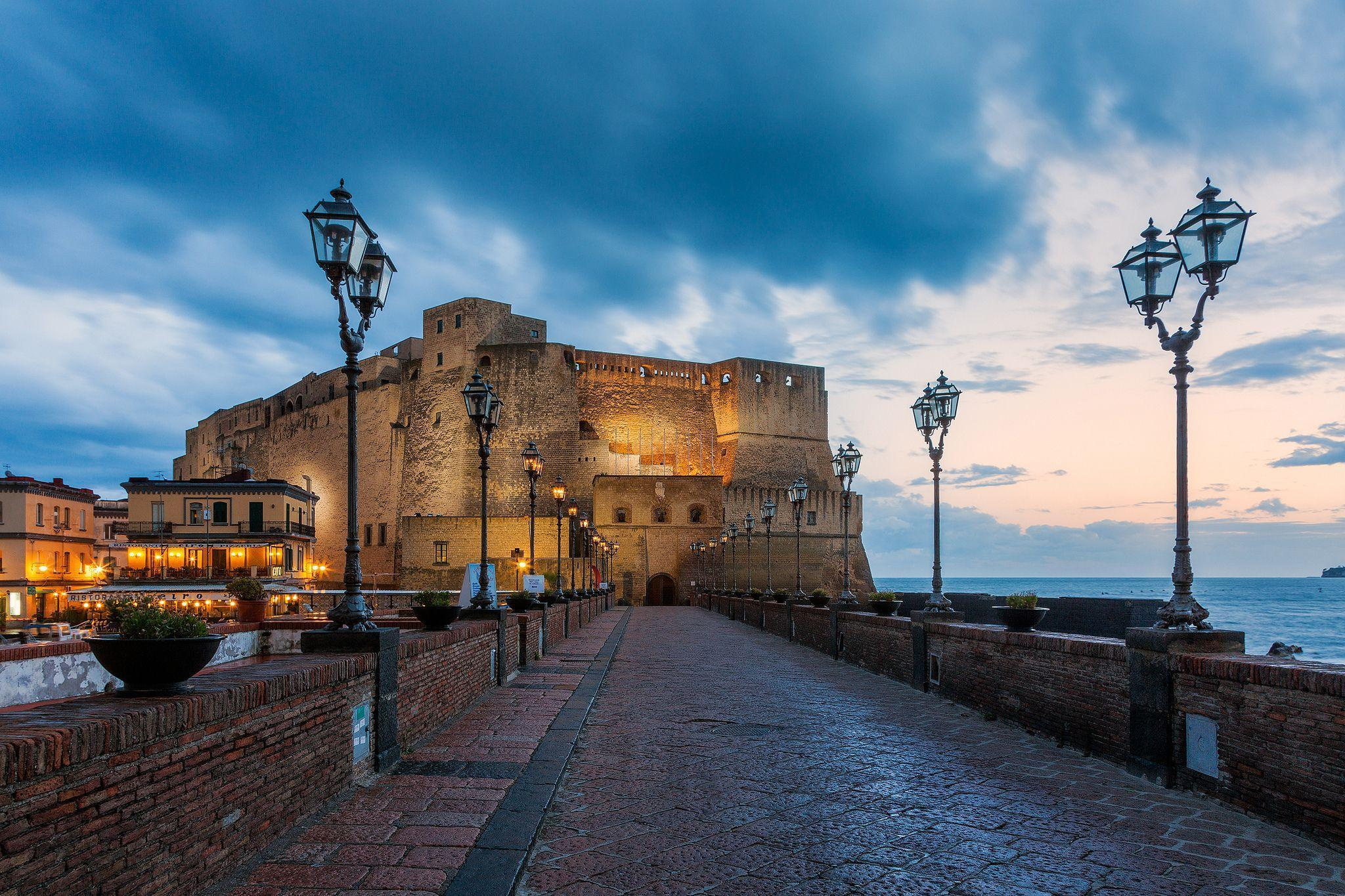 Fortress on the waterfront in Naples, Italy wallpapers and images ...
