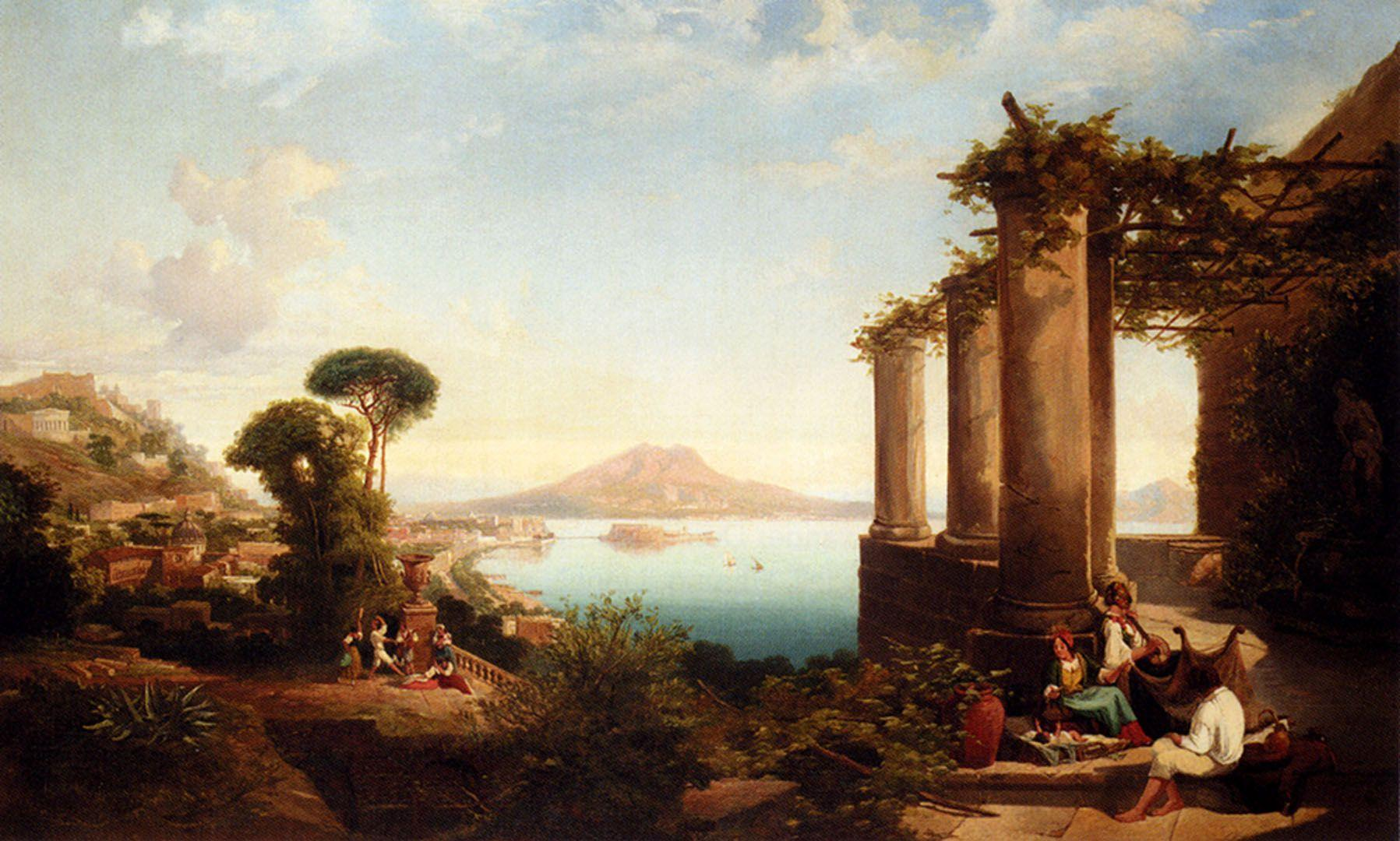 The Castle Of Ischia In The Bay Of Naples - English Art