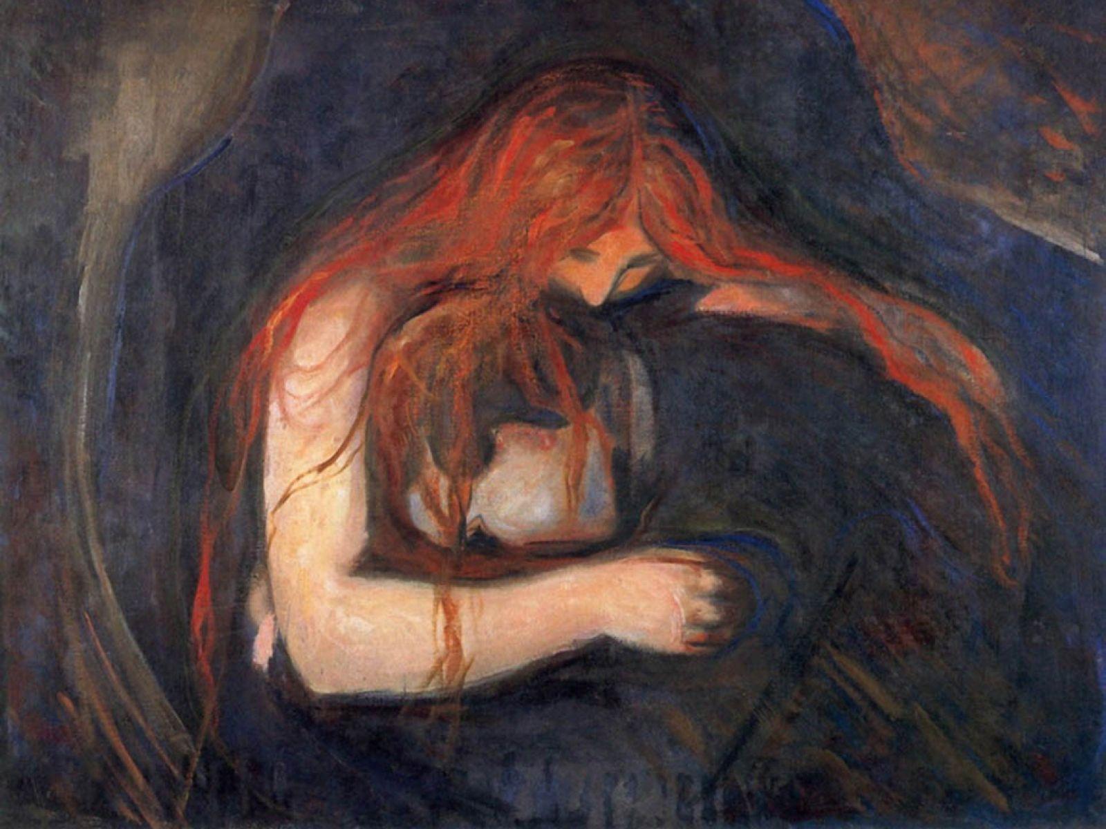 Vampire, Edvard Munch, 1916-18   Lightbender   Flickr   Vampire Edvard Munch