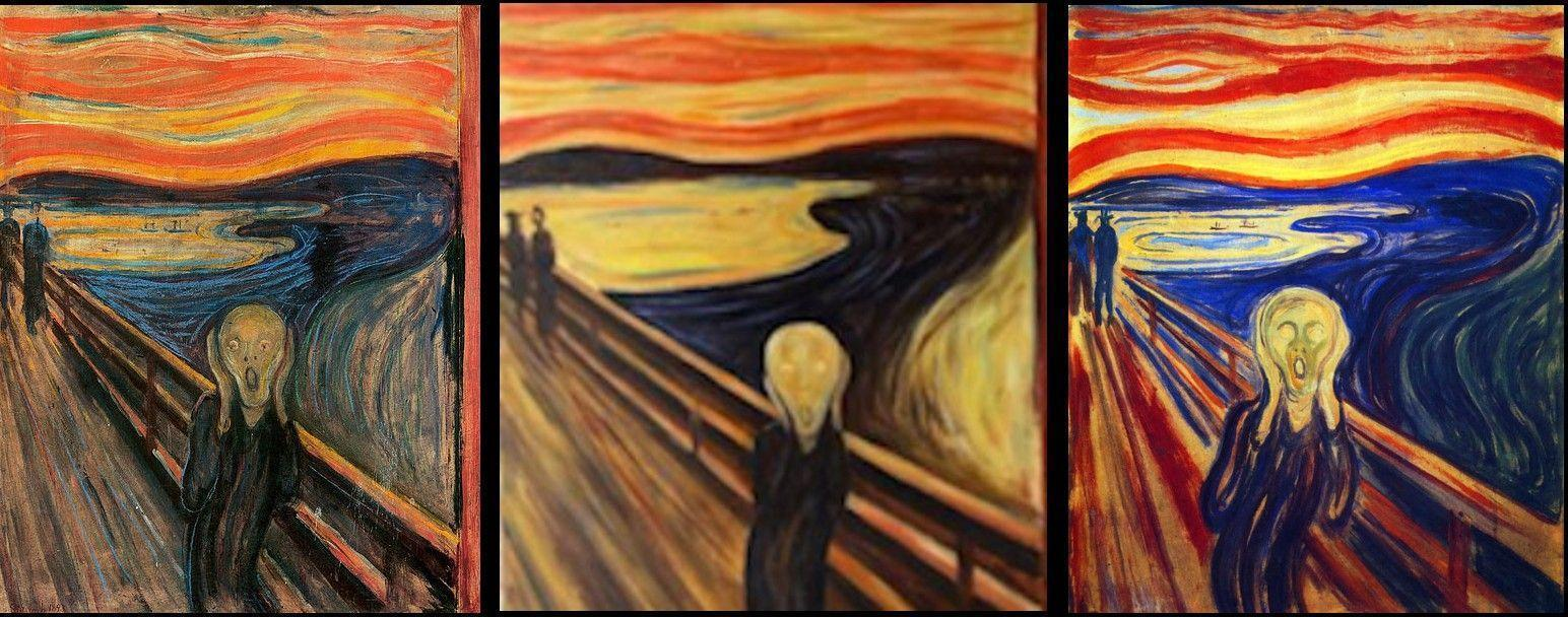 amazoncom the scream of nature edvard munch art print - 1544×608