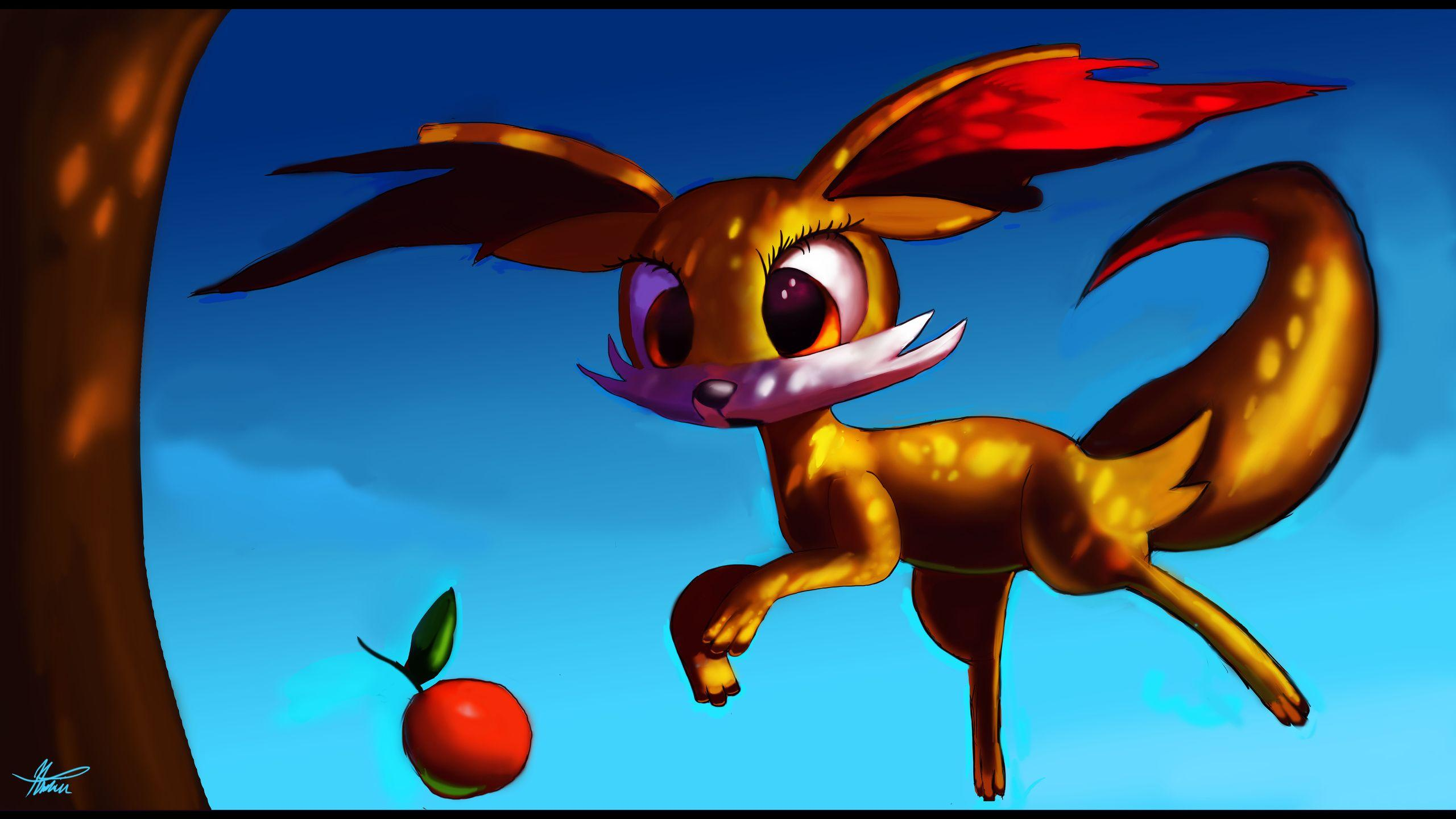 2560x1440 Fennekin, Pokemons, Pokemon Fennekin Wallpapers and ...