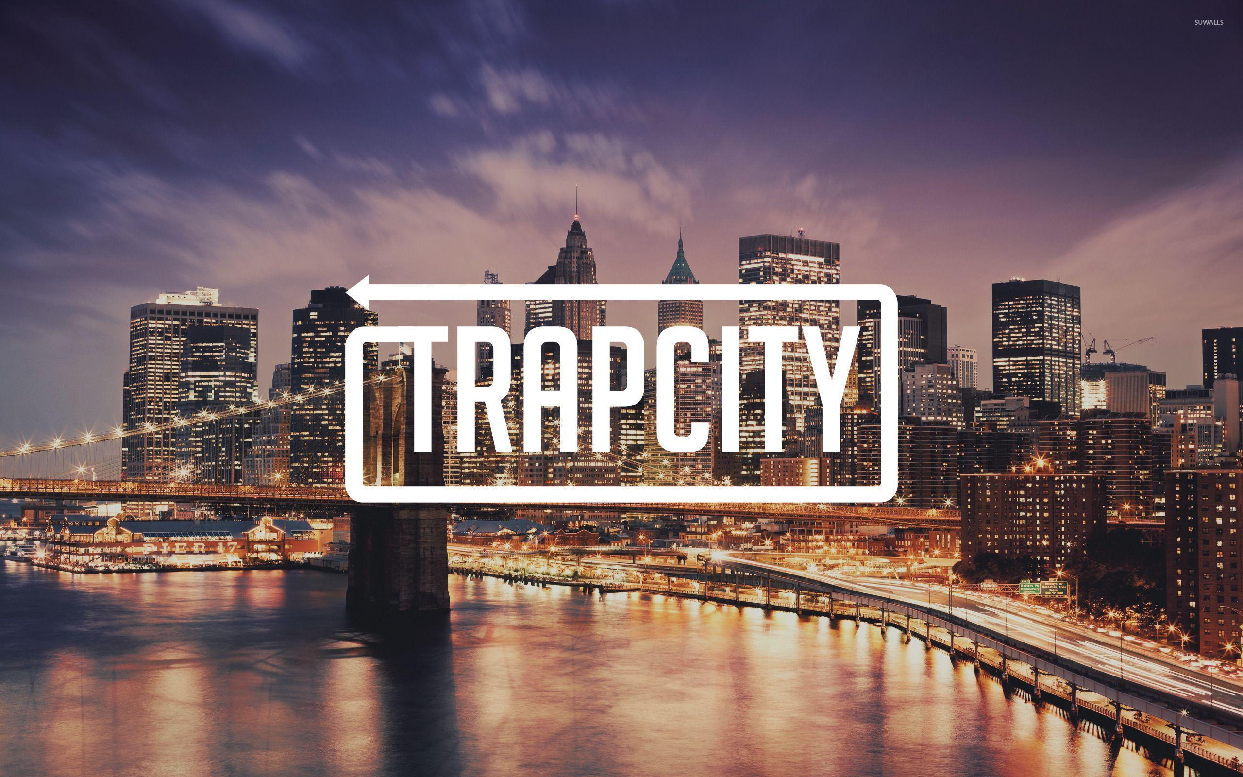 Trap City Over The Coastline Wallpaper