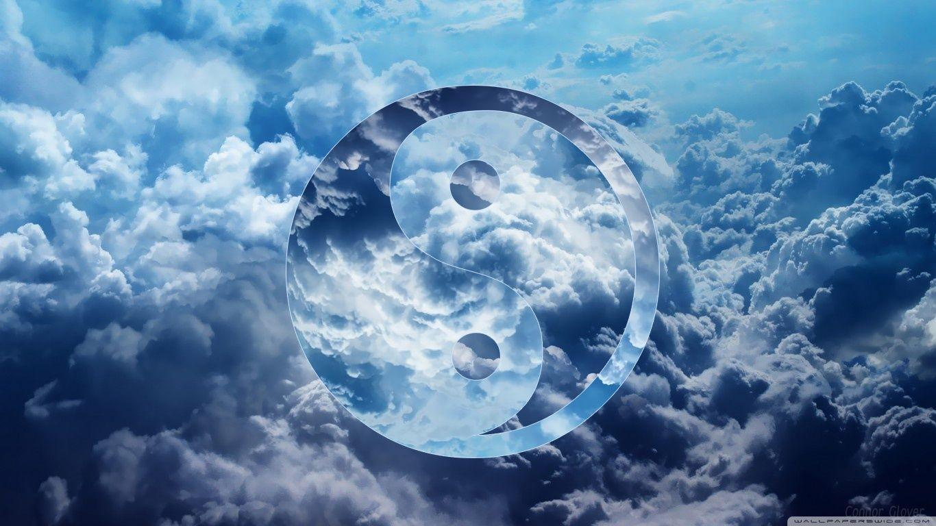 Ying Yang Clouds HD desktop wallpapers : High Definition
