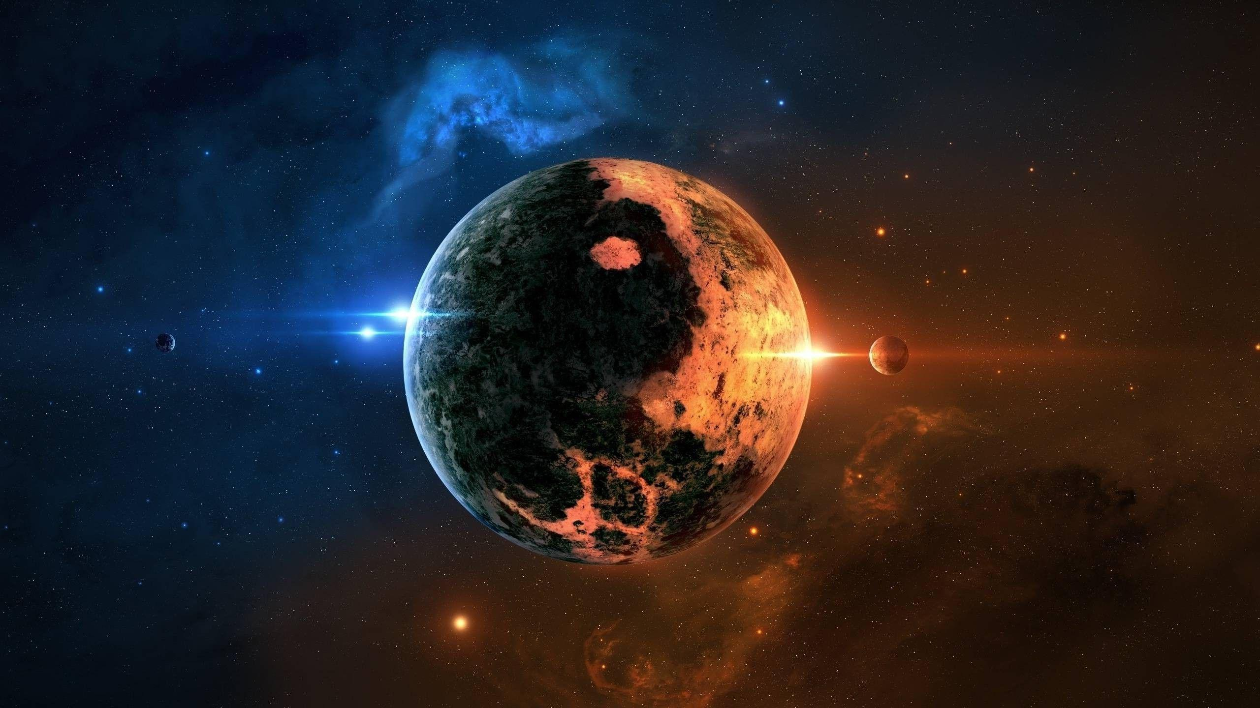 space Art, Planet, Space, Yin And Yang Wallpapers HD / Desktop and