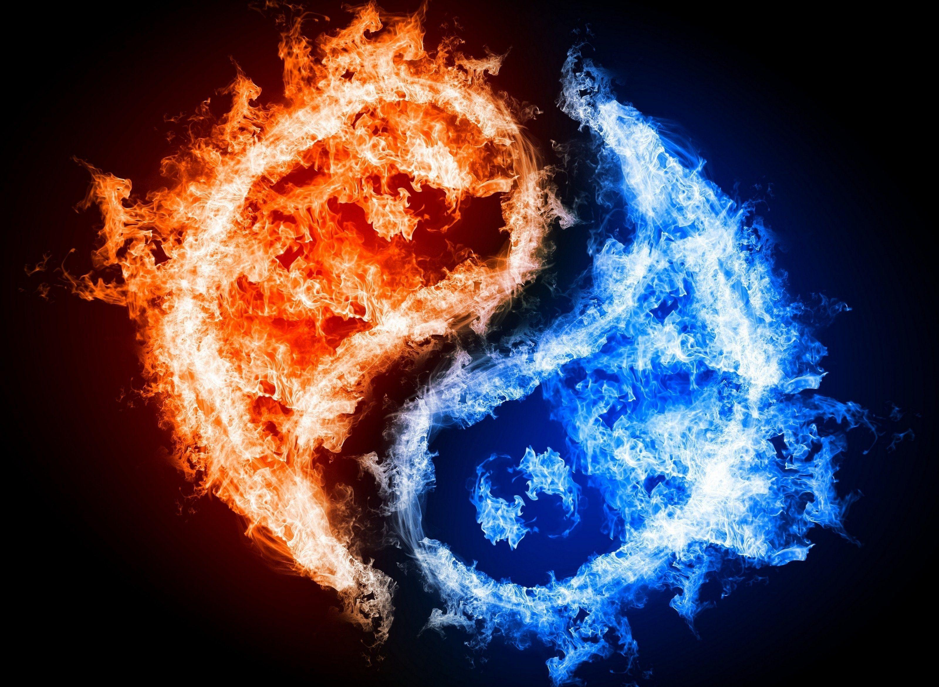 Yin Yang Fire Water Wallpapers