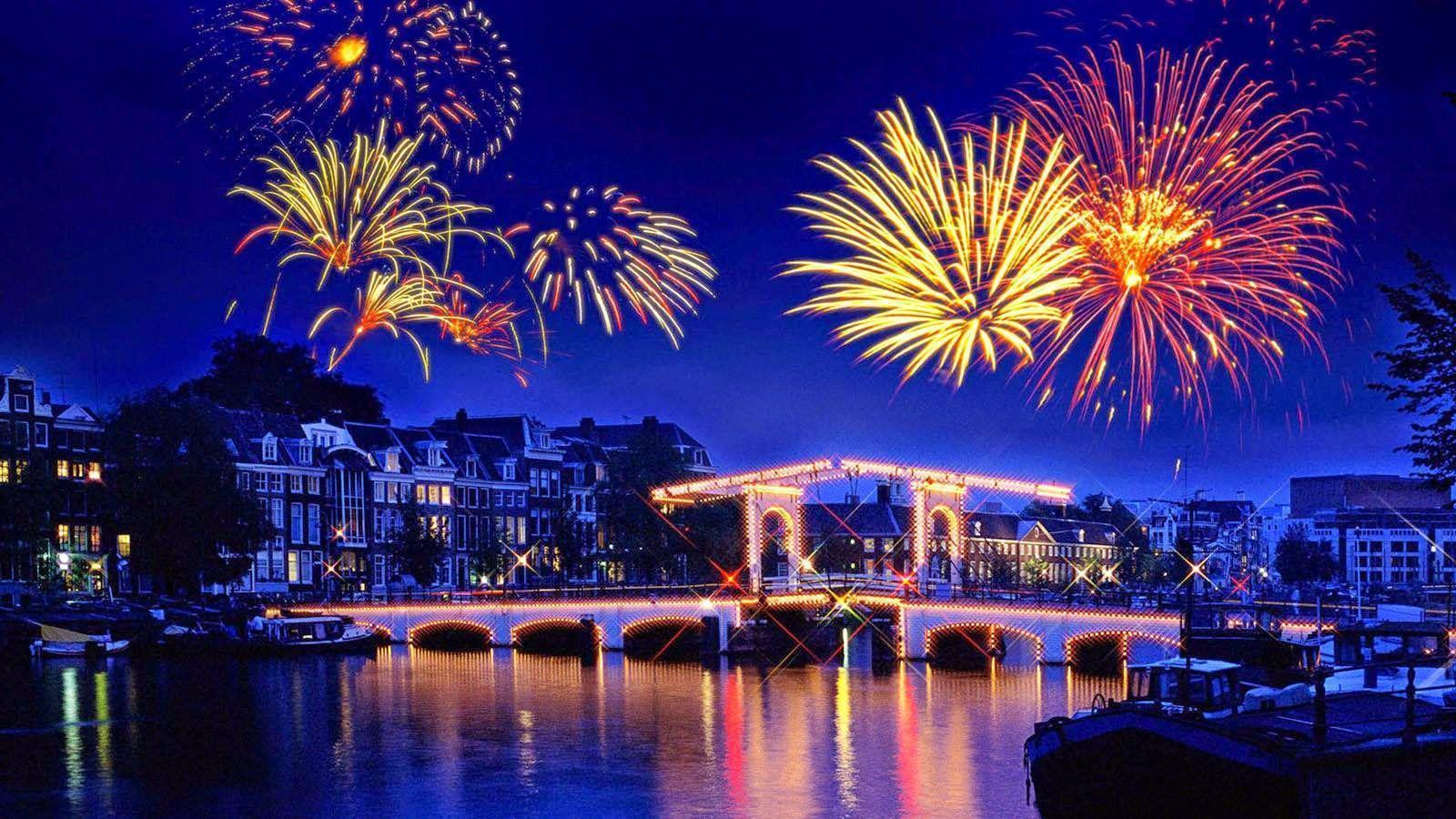 happy new year wallpapers with crackers lightshow happy new