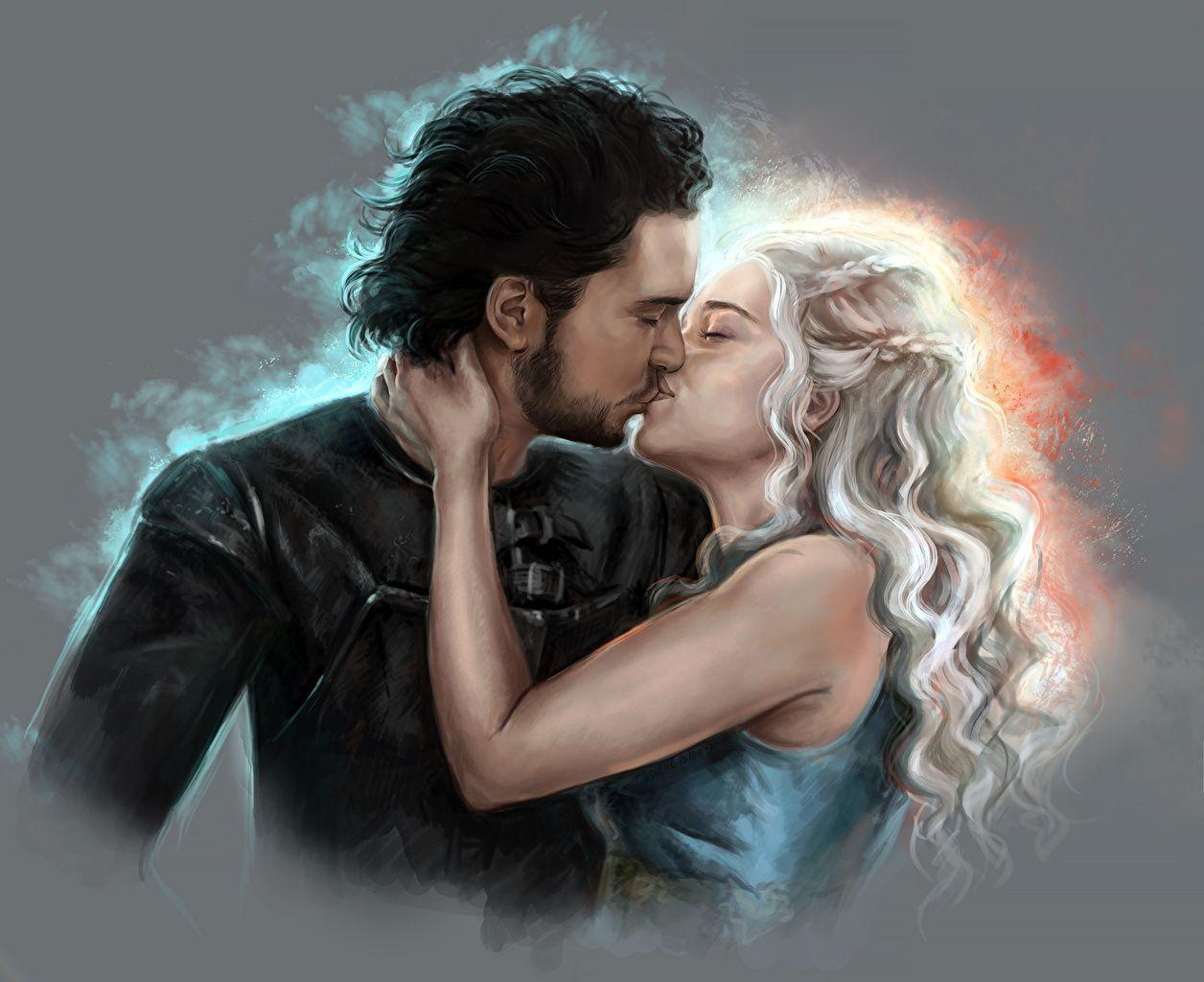 Wallpaper Game Of Thrones Daenerys Targaryen Emilia Clarke Jon Snow