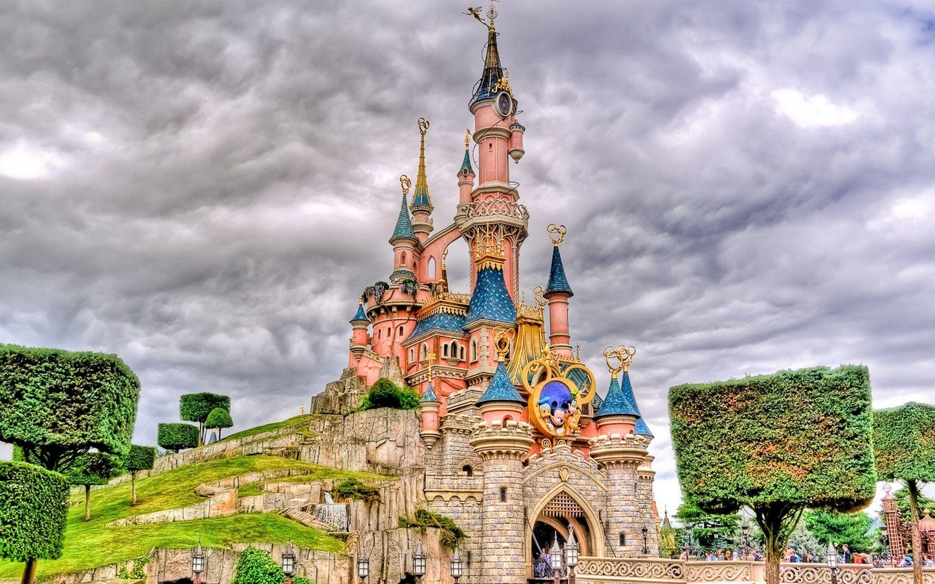 Sleeping Beauty Castle of Disneyland Park in Anaheim United States