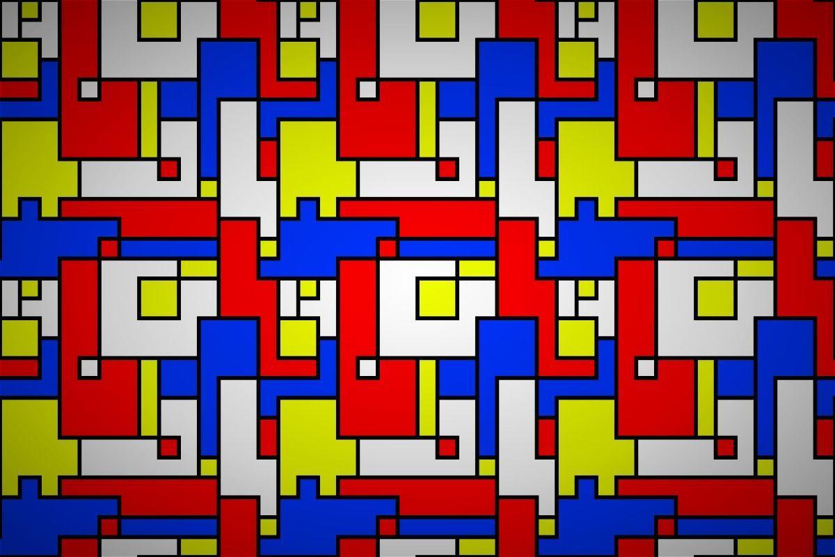 Free piet mondrian block wallpaper patterns