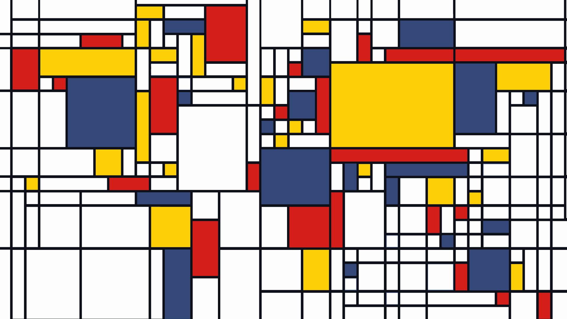 World Map in the manner of Piet Mondrian [948×730] : MapPorn