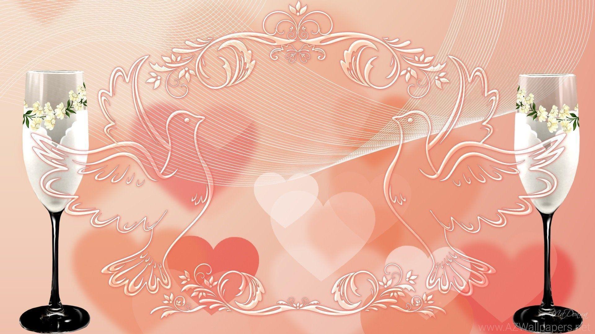 Фон для открытки бракосочетание