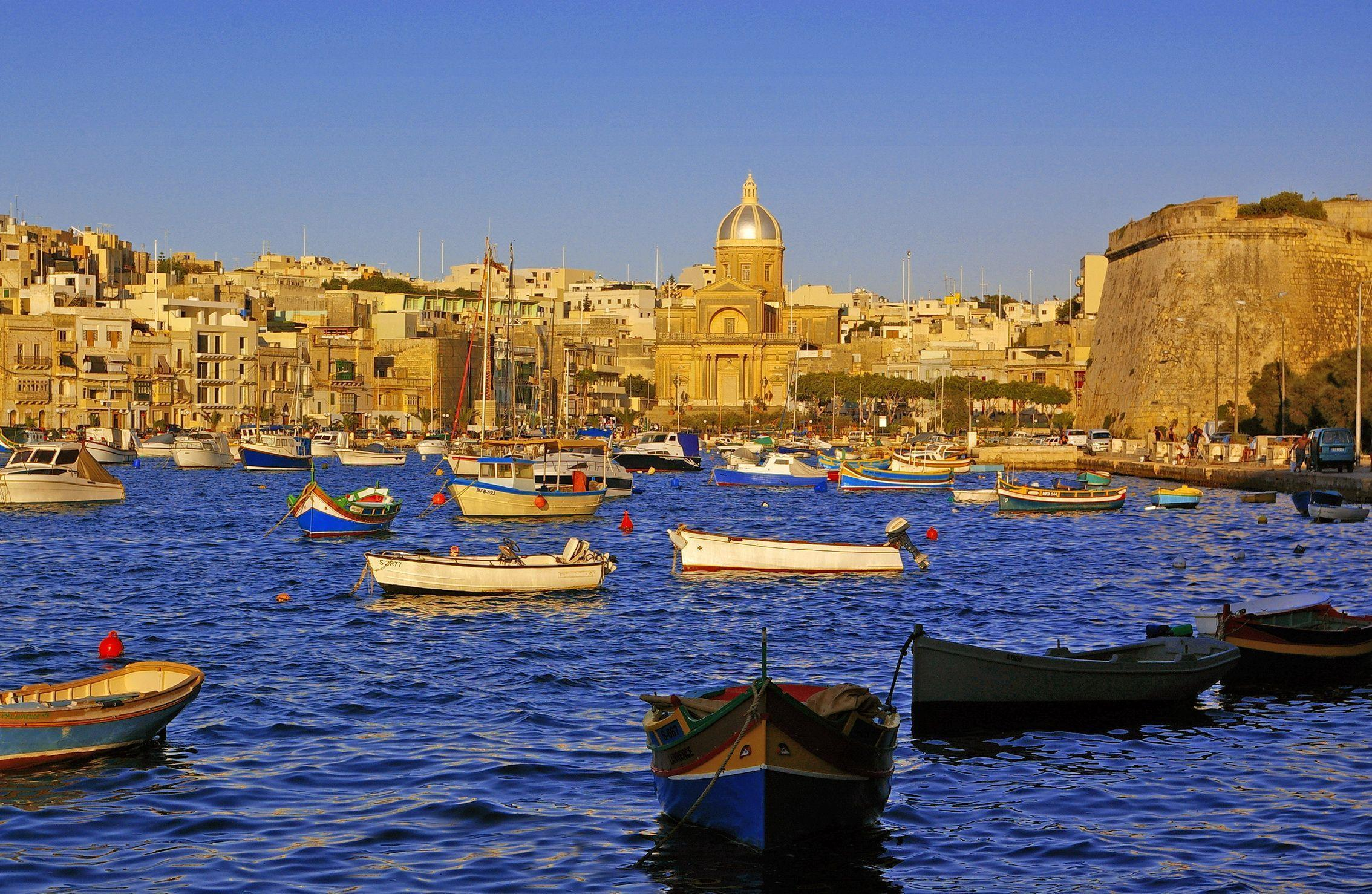 Malta Kalkara Boats Cities 2268x1478
