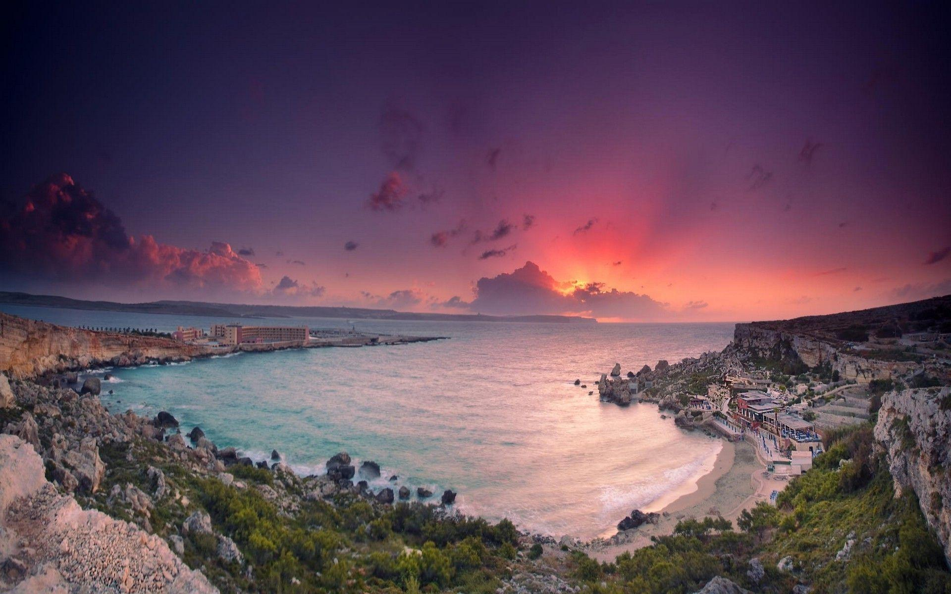 nature, Landscape, Beach, Sea, Vacations, Sunset, Cliff, Malta ...