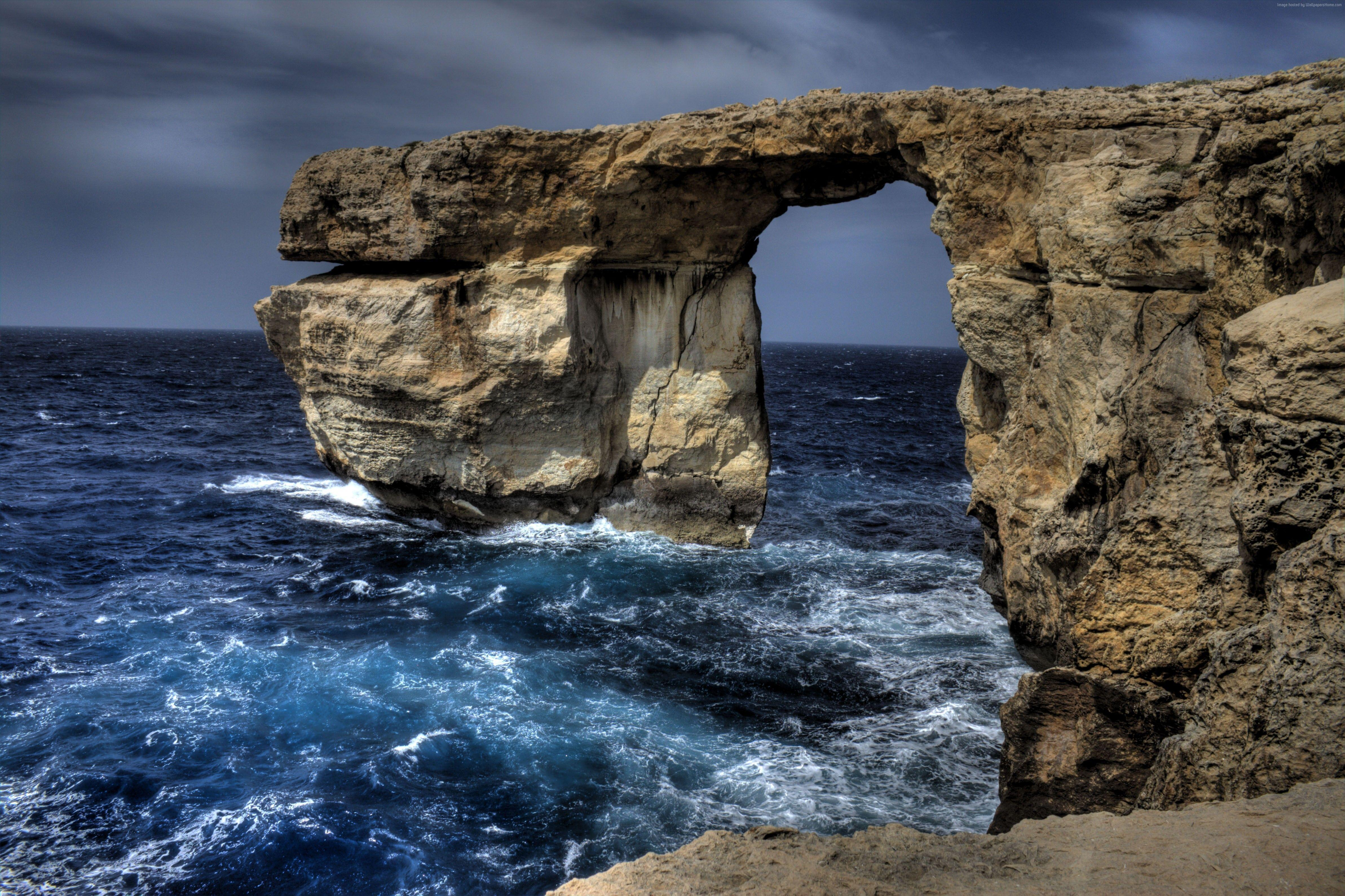 Wallpaper Malta, 5k, 4k wallpaper, Sea, ocean, rocks, Nature #4391